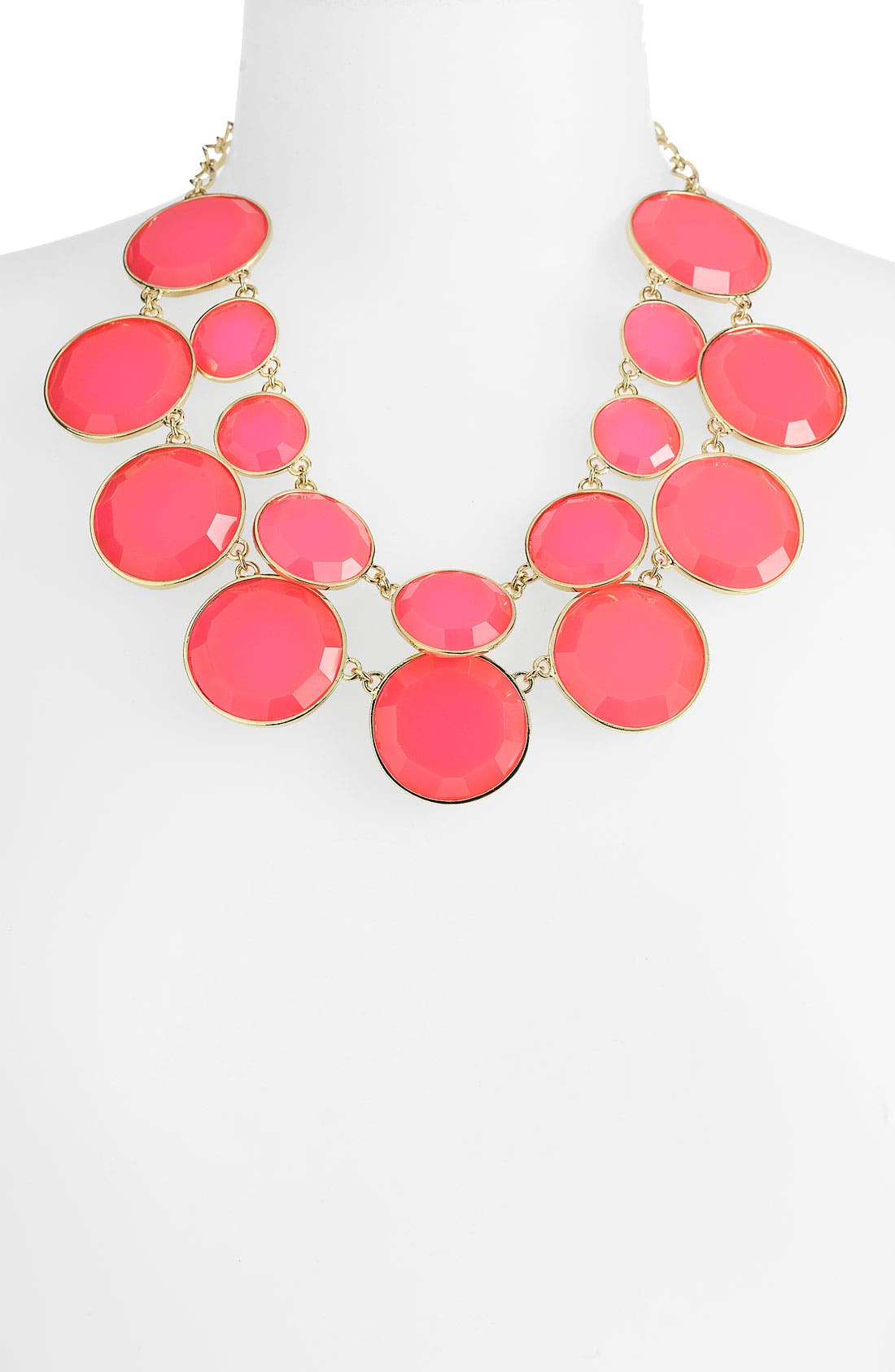 KATE SPADE NEW YORK 'bauble box' double row bib necklace, Main, color, 670
