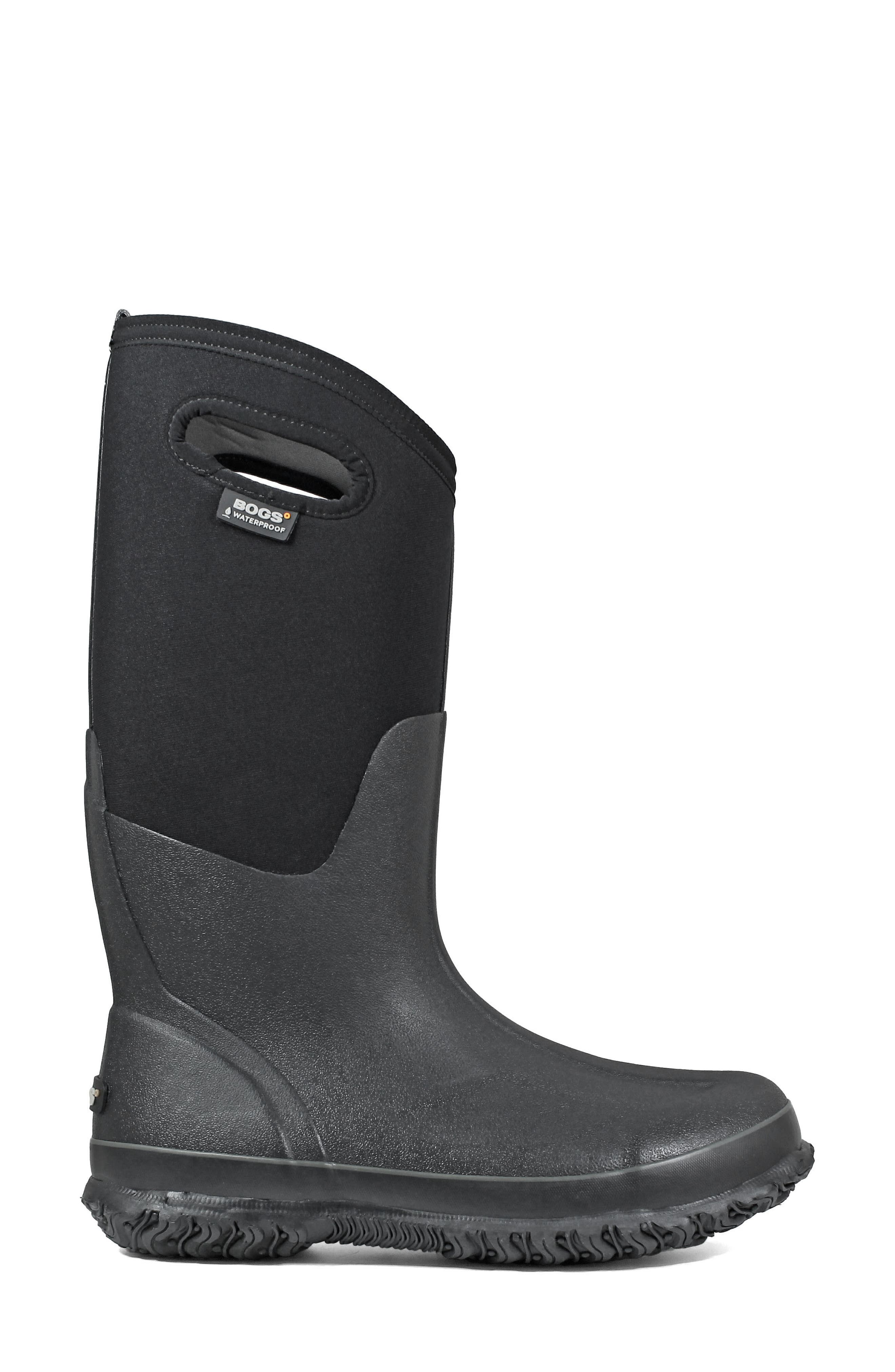 BOGS, Classic Tall Waterproof Snow Boot, Alternate thumbnail 3, color, BLACK