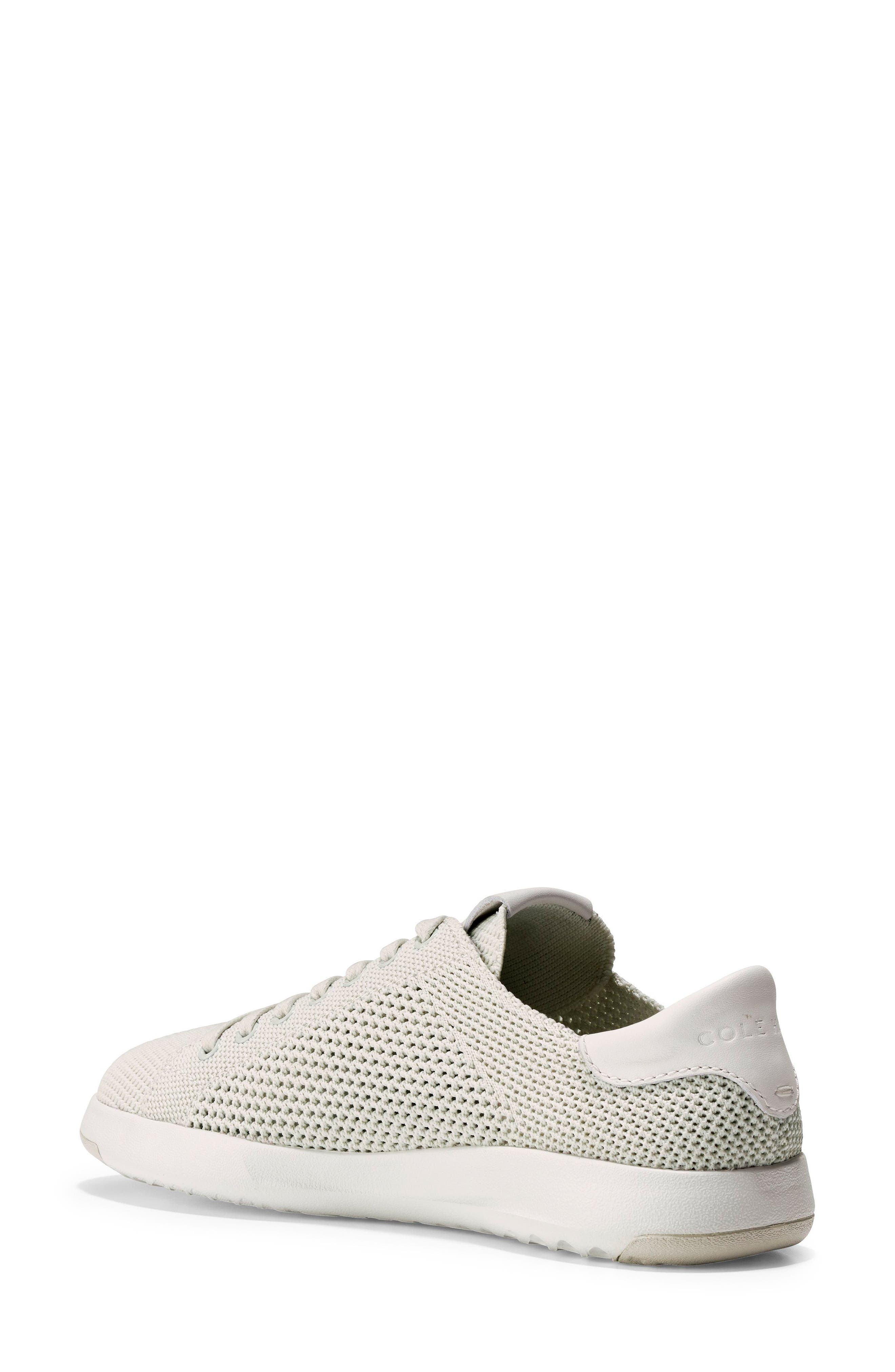 COLE HAAN, GrandPro Stitchlite Sneaker, Alternate thumbnail 2, color, CHALK FABRIC