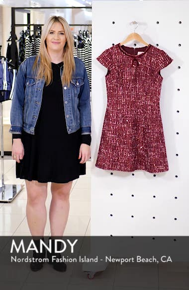 Nell Bouclé Dreams Tweed Fit & Flare Dress, sales video thumbnail