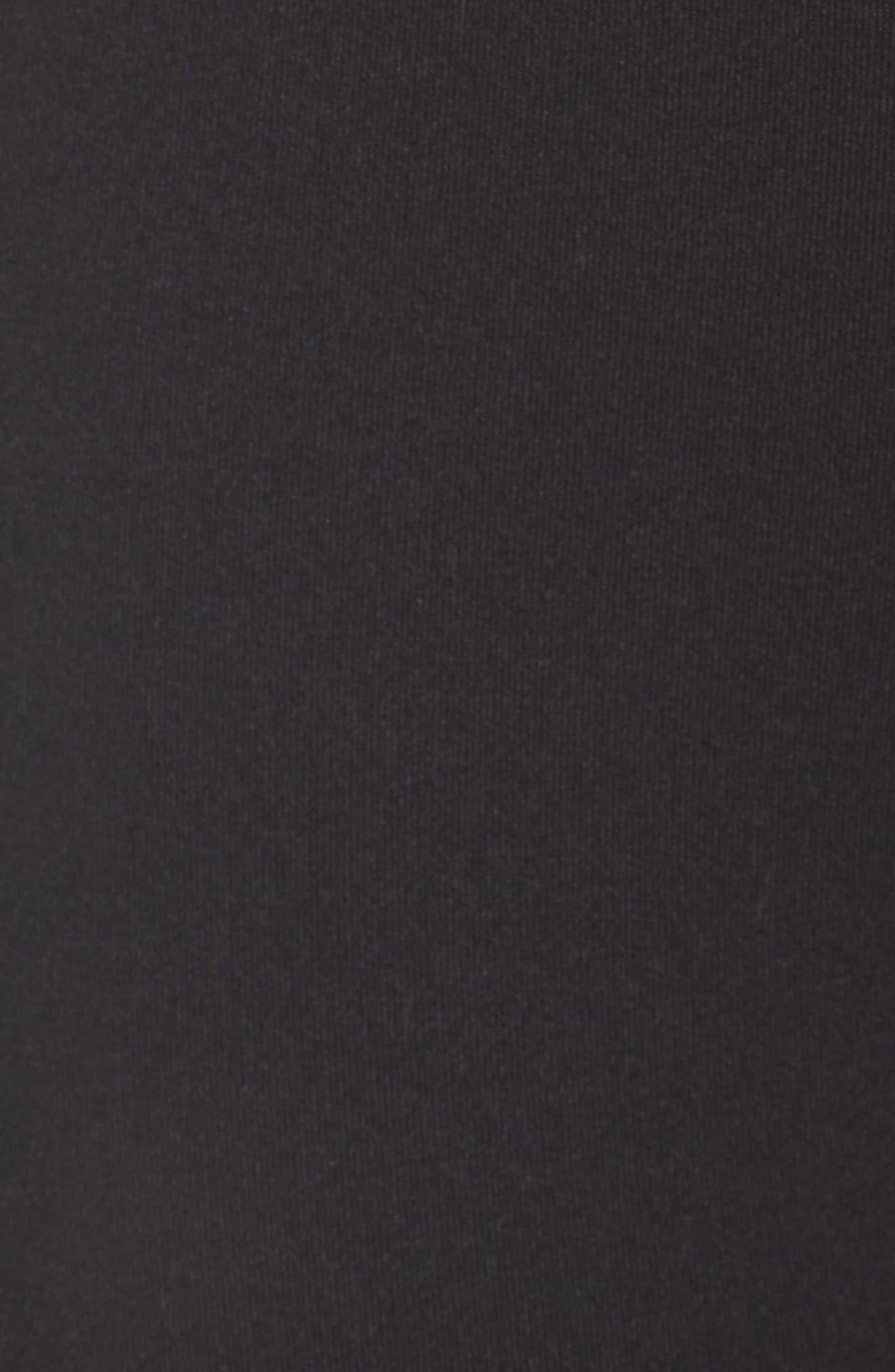 ZELLA, Impulse High Waist Midi Leggings, Alternate thumbnail 5, color, 001