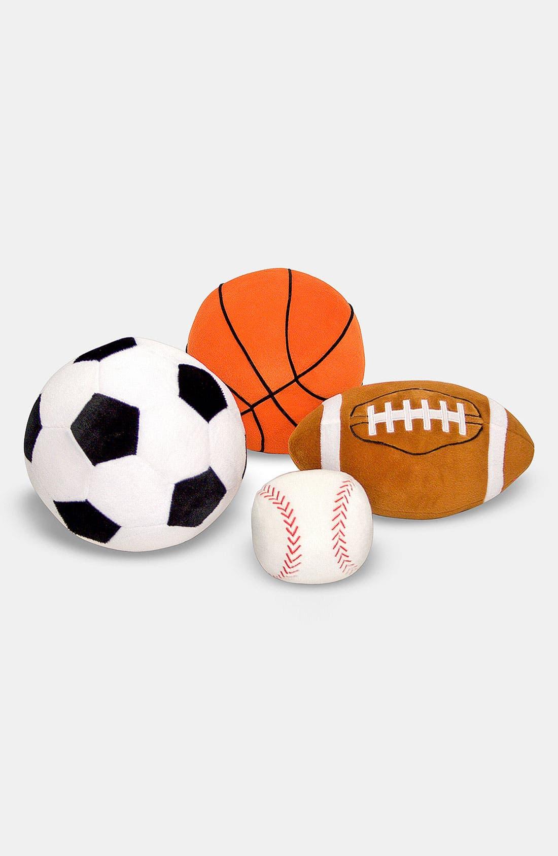 MELISSA & DOUG, 'Sports' Throw Pillow, Alternate thumbnail 4, color, 960