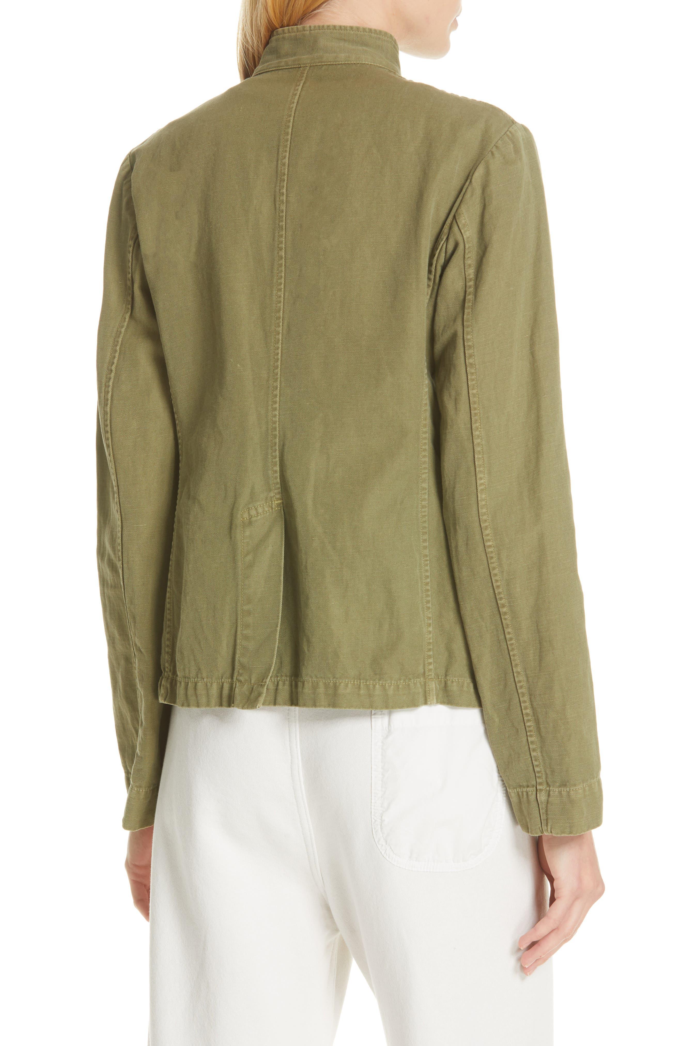 NILI LOTAN, Cambre Jacket, Alternate thumbnail 2, color, UNIFORM GREEN