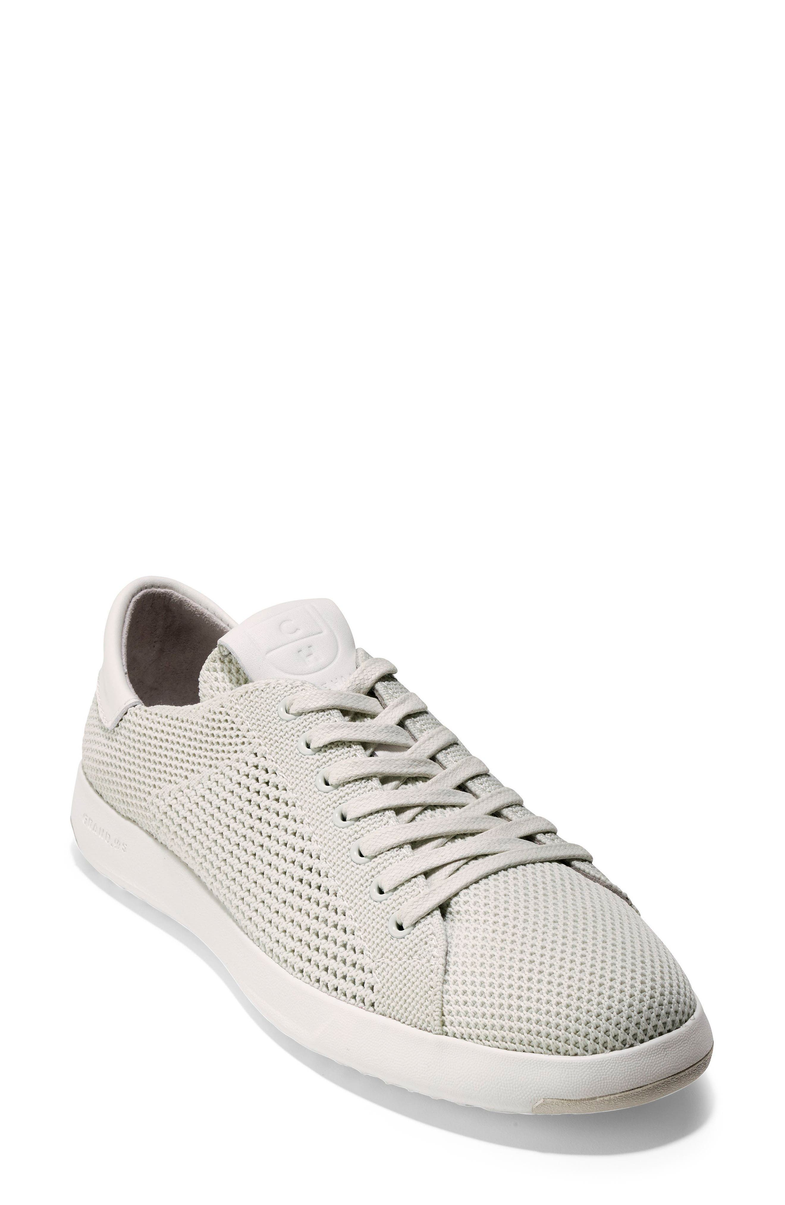 COLE HAAN, GrandPro Stitchlite Sneaker, Main thumbnail 1, color, CHALK FABRIC
