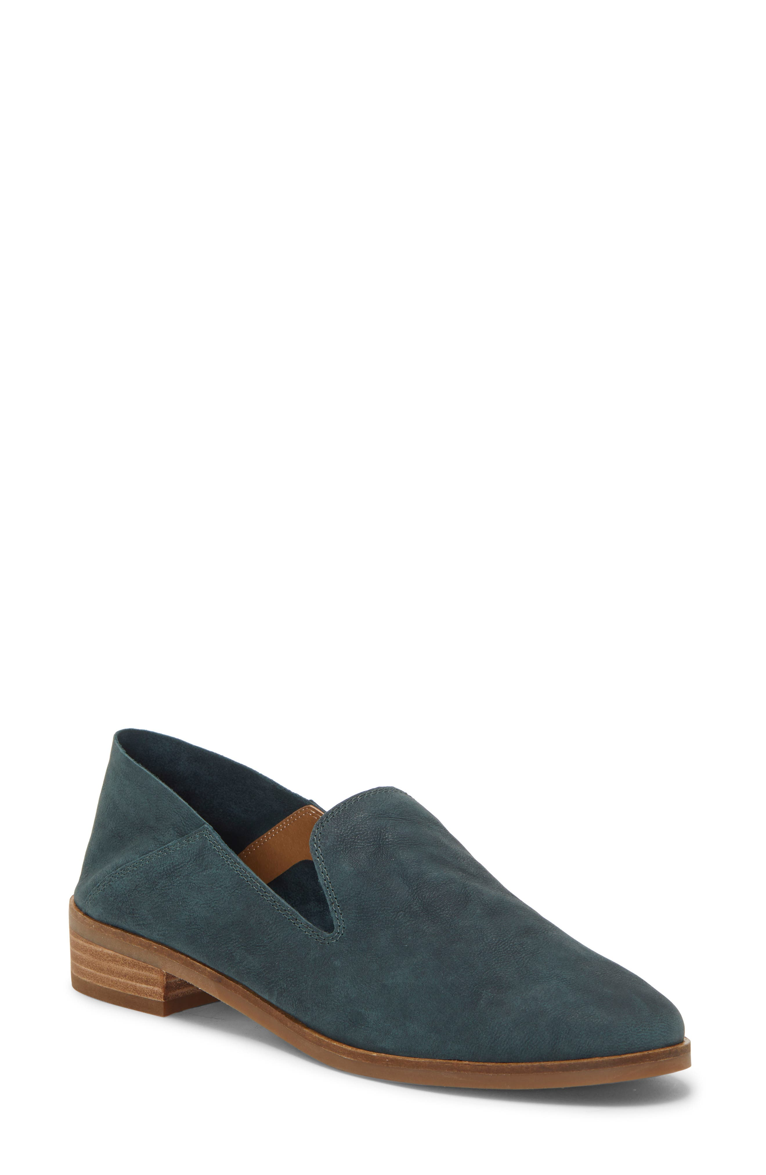 LUCKY BRAND, Cahill Flat, Main thumbnail 1, color, KELP LEATHER