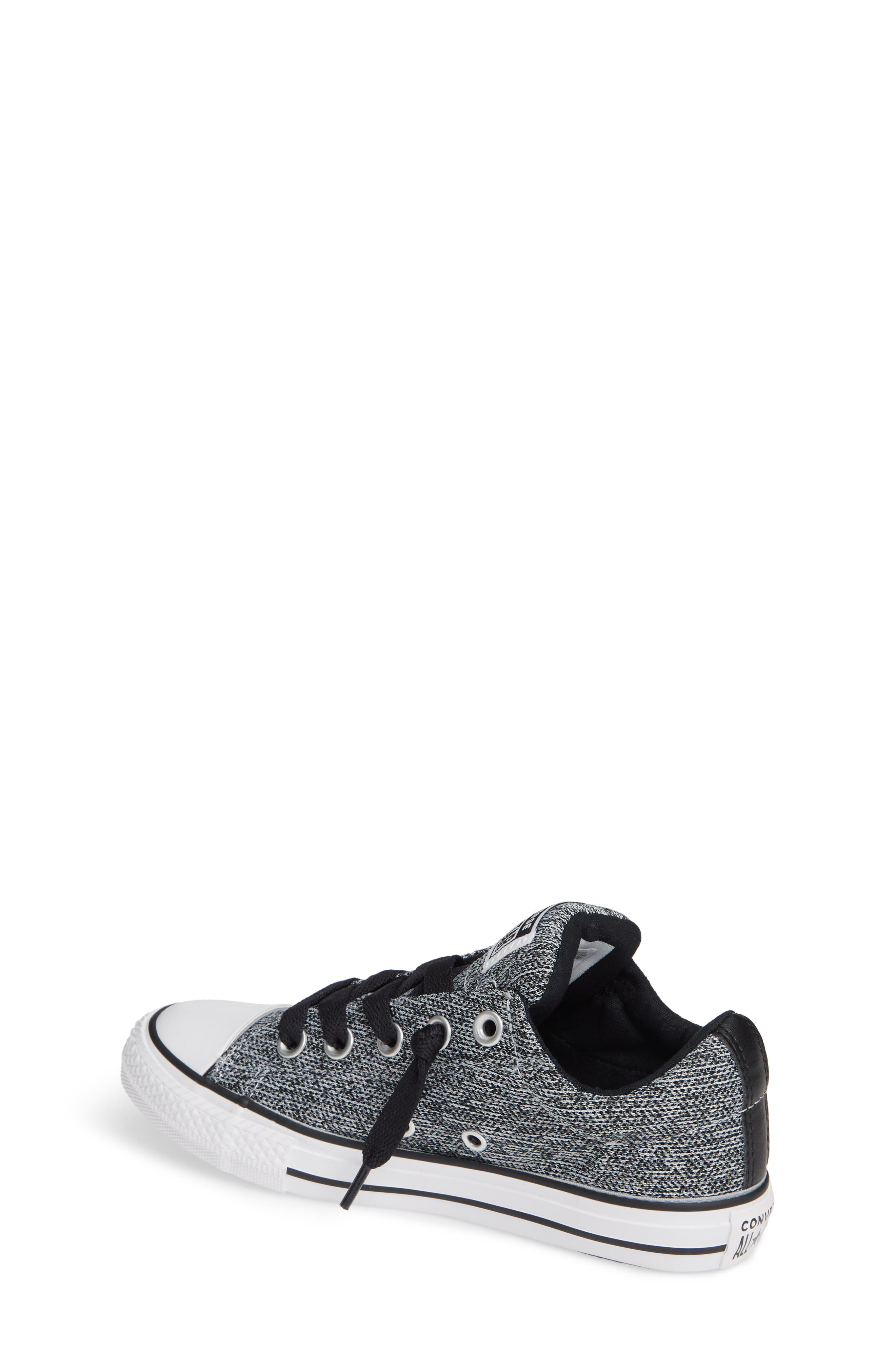 CONVERSE, All Star<sup>®</sup> Graphite Textured Street Low Top Sneaker, Alternate thumbnail 2, color, WOLF GREY