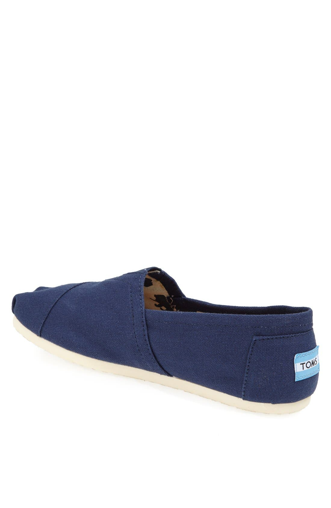 TOMS, 'Classic' Canvas Slip-On, Alternate thumbnail 5, color, NAVY