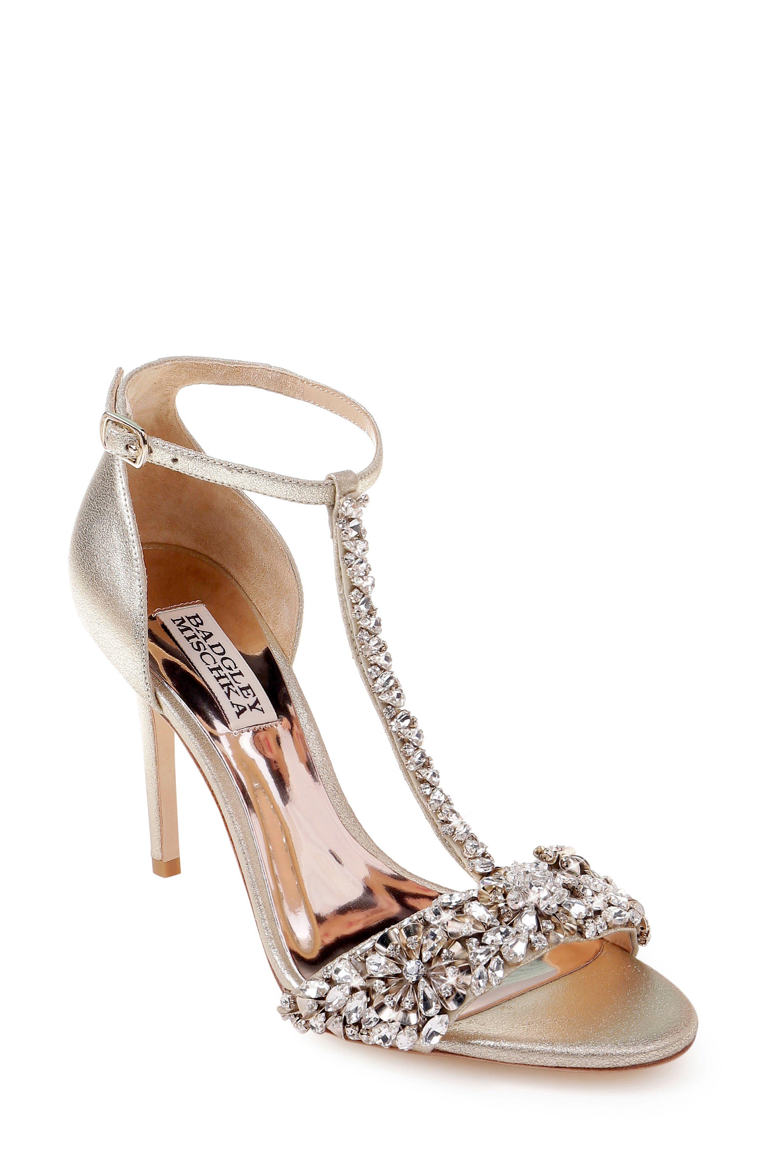60b424eda6af Badgley Mischka Crystal Embellished Sandal