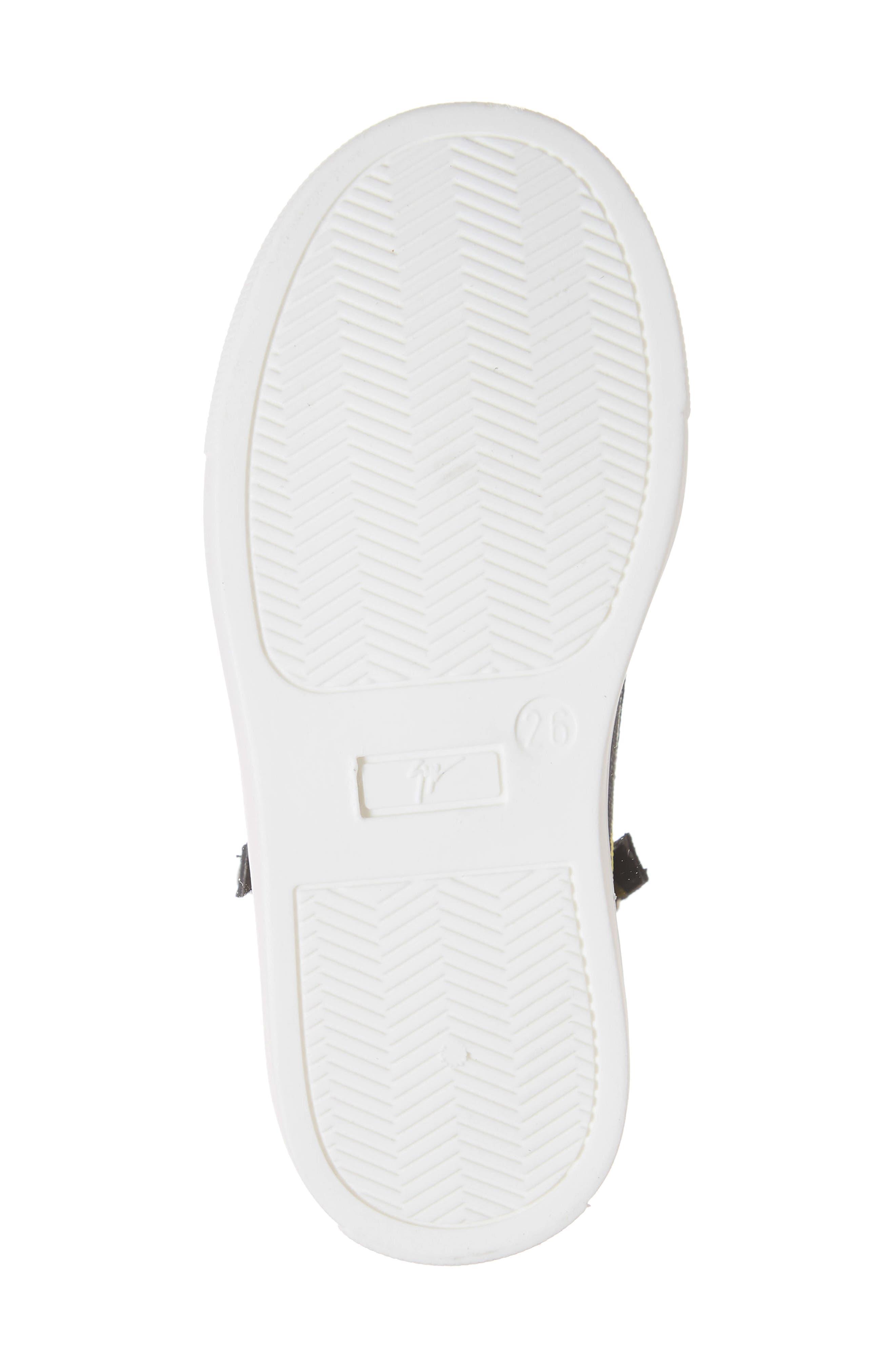 GIUSEPPE ZANOTTI, Kidlondon Banana Print Sneaker, Alternate thumbnail 6, color, BANANAS