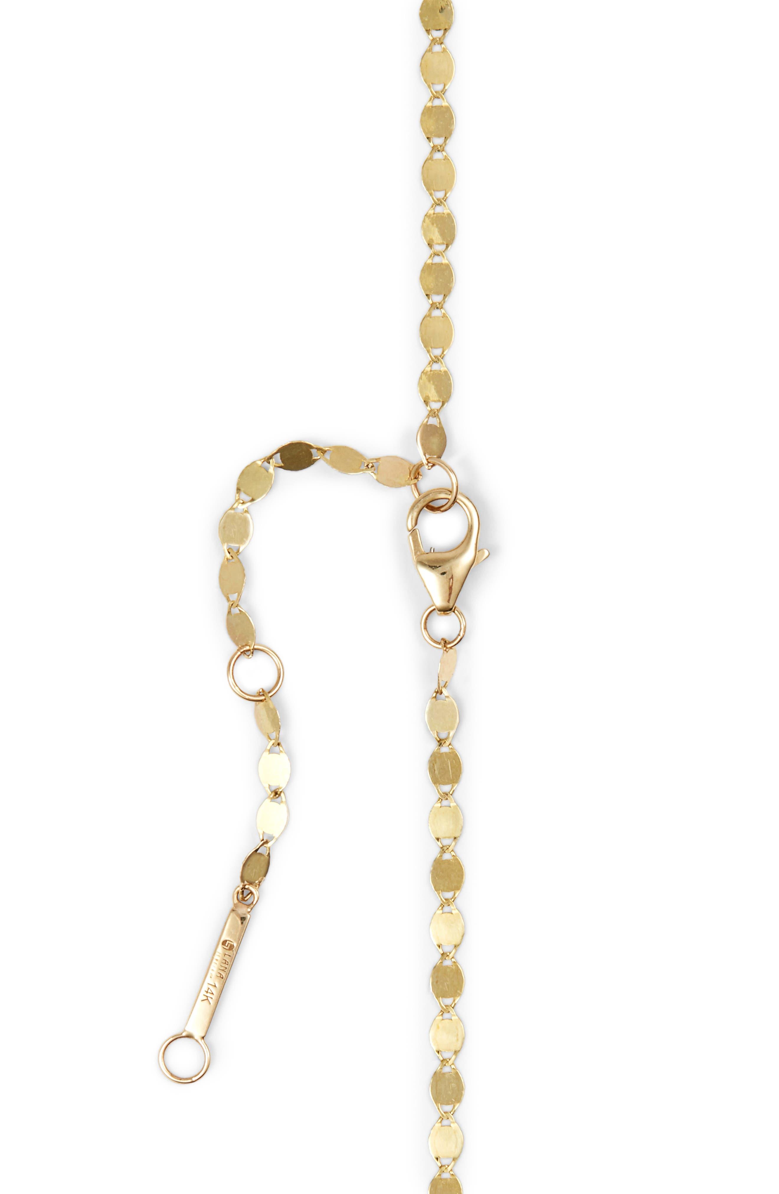 LANA JEWELRY, Petite Nude Chain Choker, Alternate thumbnail 3, color, YELLOW GOLD