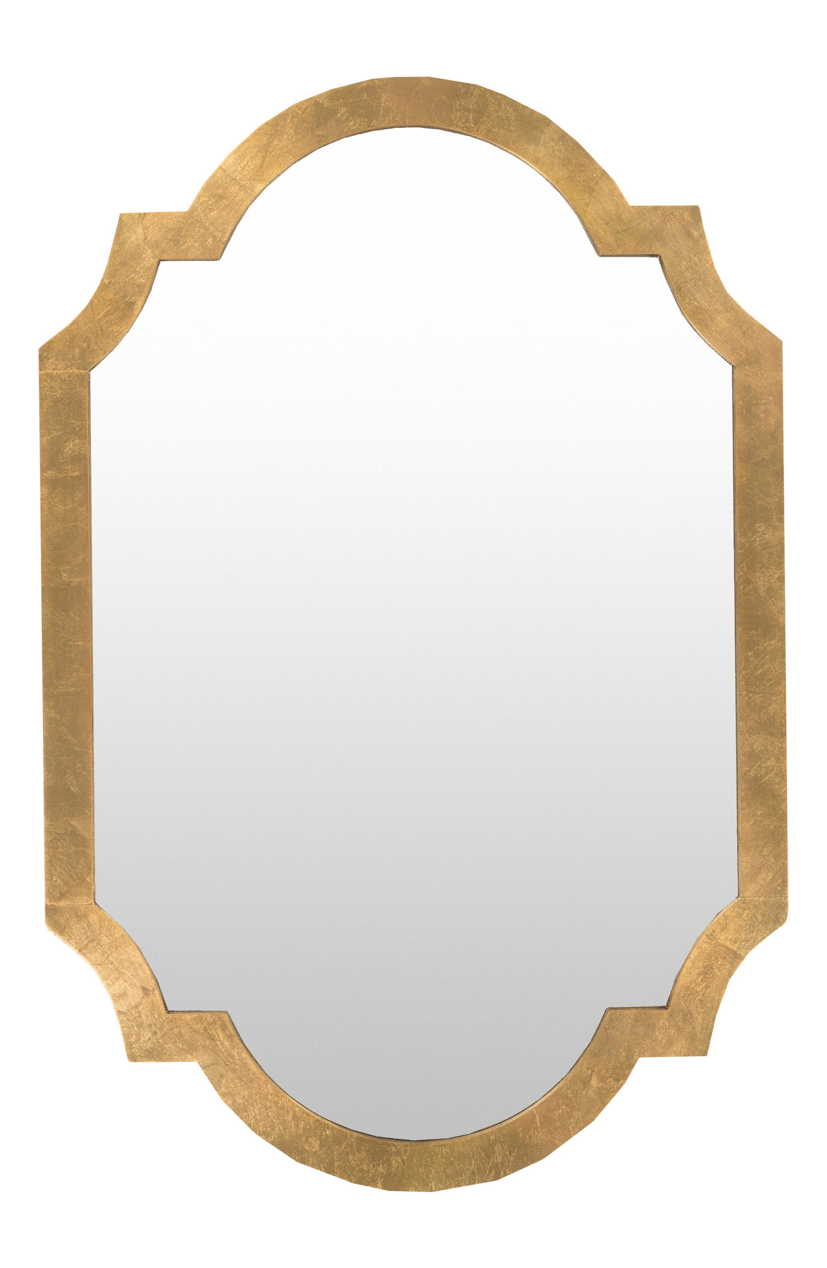 SURYA HOME, Gilded Mirror, Main thumbnail 1, color, AGED GOLD