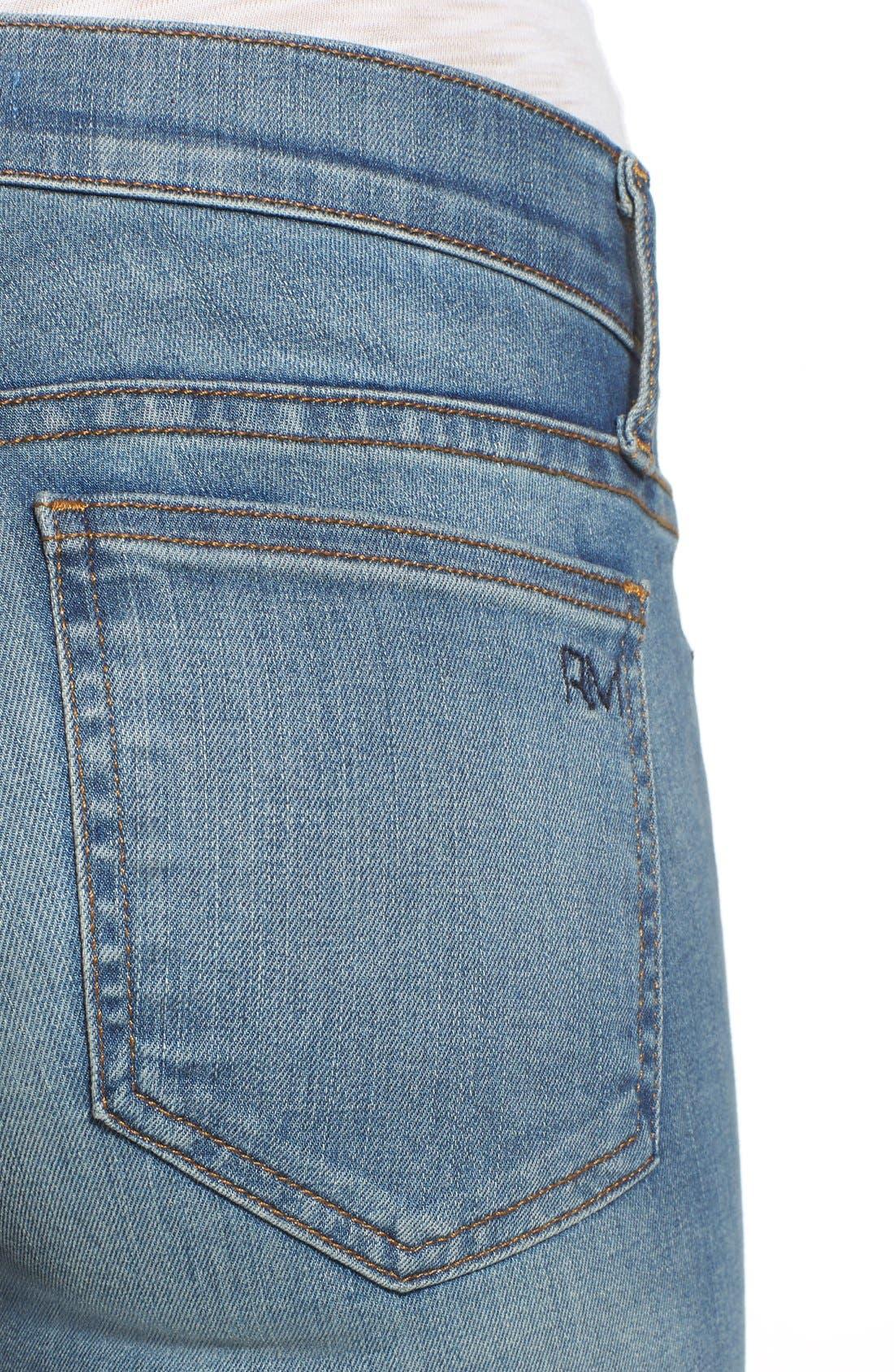 REBECCA MINKOFF, 'Jane' Skinny Jeans, Alternate thumbnail 5, color, 400