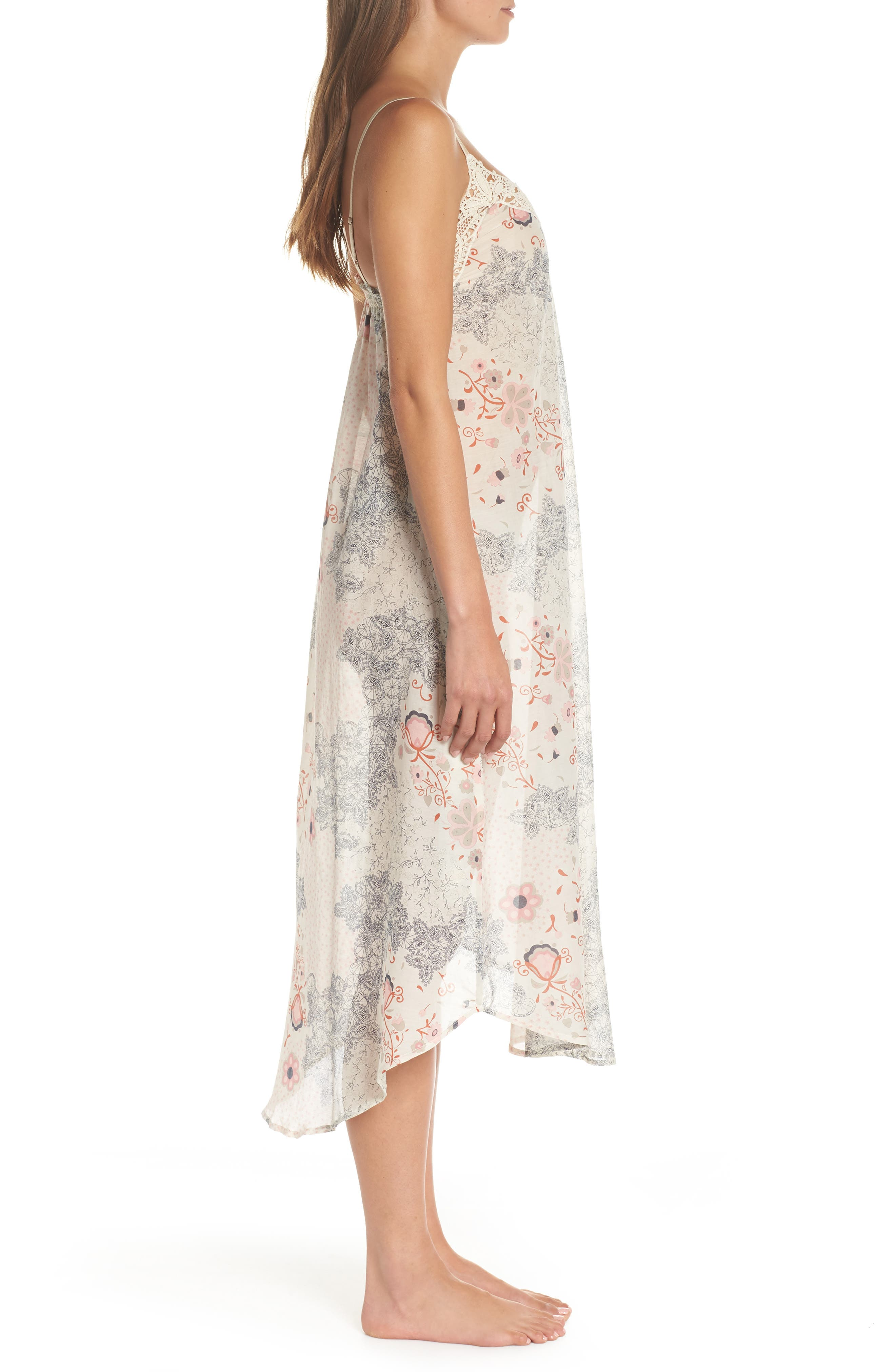 PAPINELLE, Arabella Nightgown, Alternate thumbnail 3, color, PINK MULTI