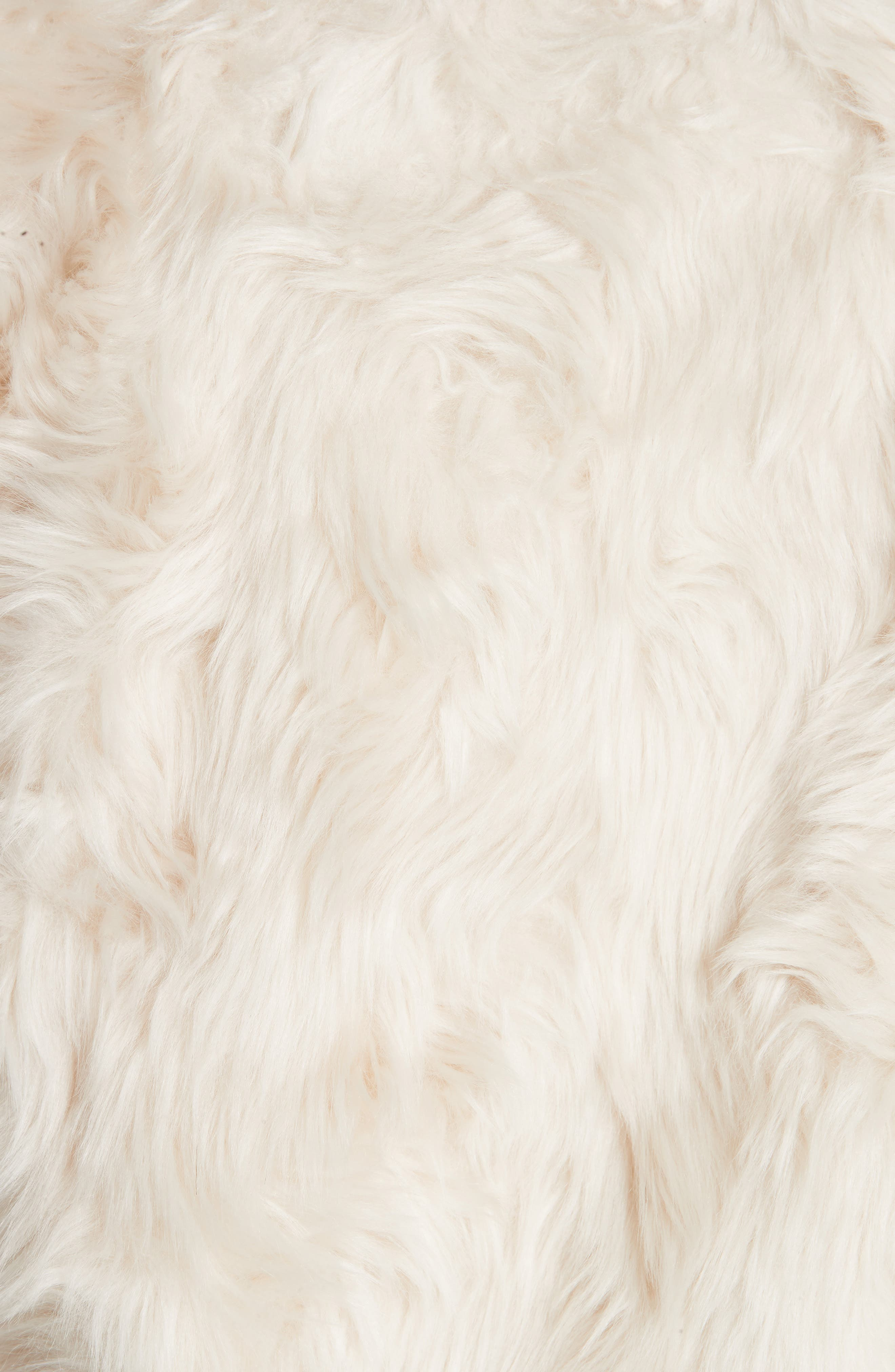 THEORY, Clairene Faux Fur Jacket, Alternate thumbnail 6, color, 907