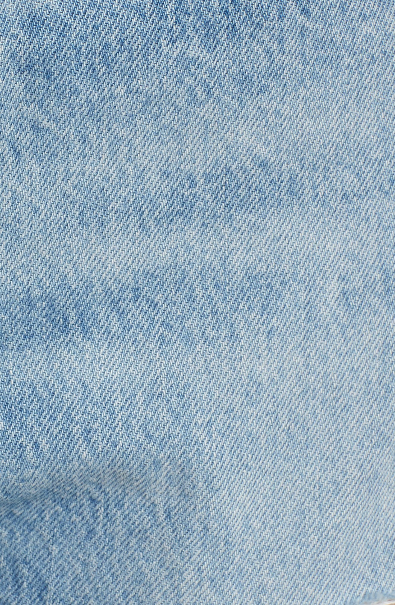 LEVI'S<SUP>®</SUP>, Wedgie Ripped Straight Leg Jeans, Alternate thumbnail 6, color, AUTHENTICALLY YOURS