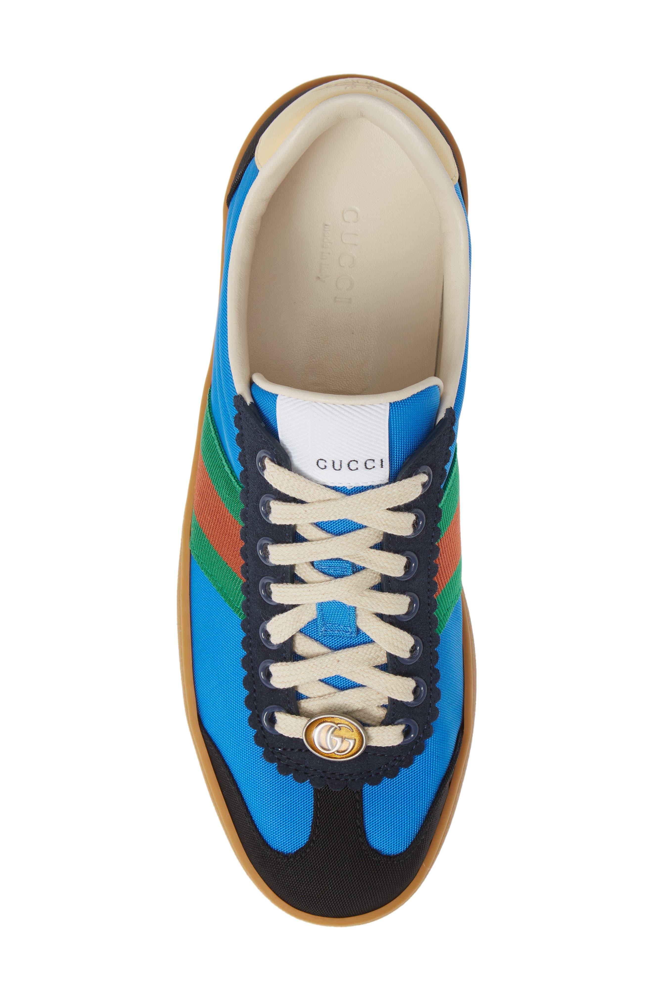 GUCCI, G74 Low Top Sneaker, Alternate thumbnail 5, color, 400