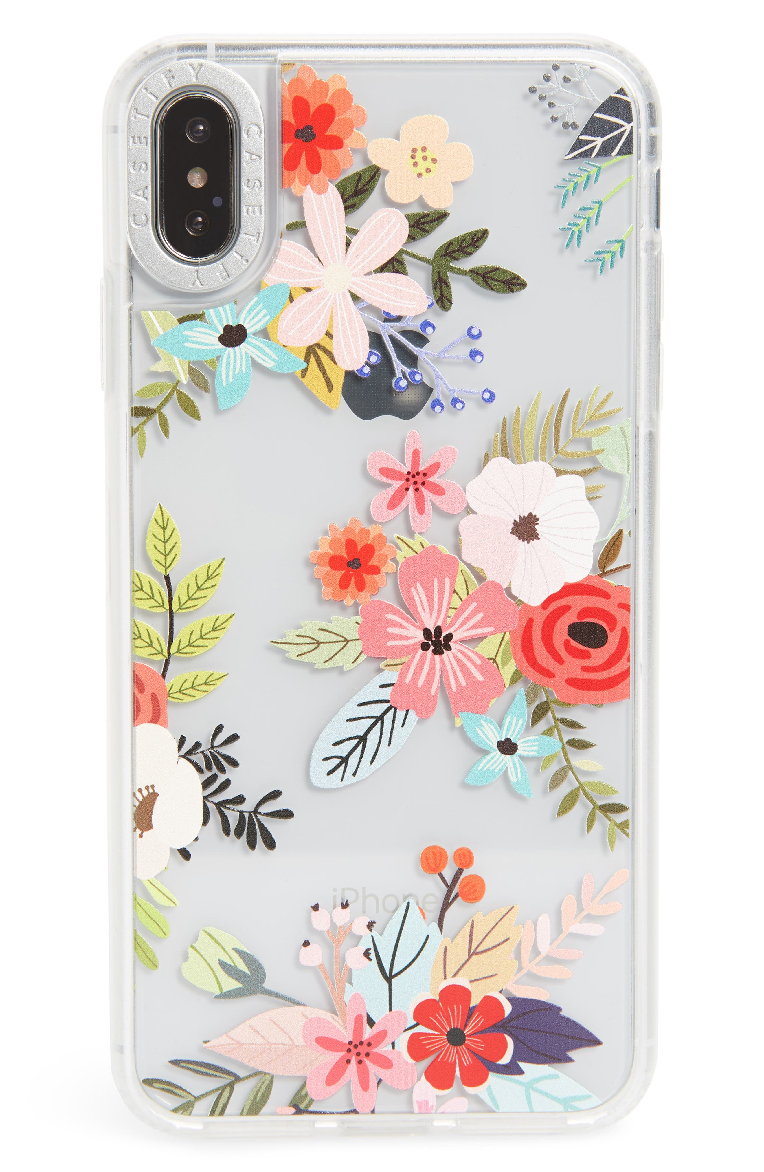 CASETIFY Floral Collage Translucent iPhone X/Xs, XR & X Max Case, Main, color, MULTI FLORAL