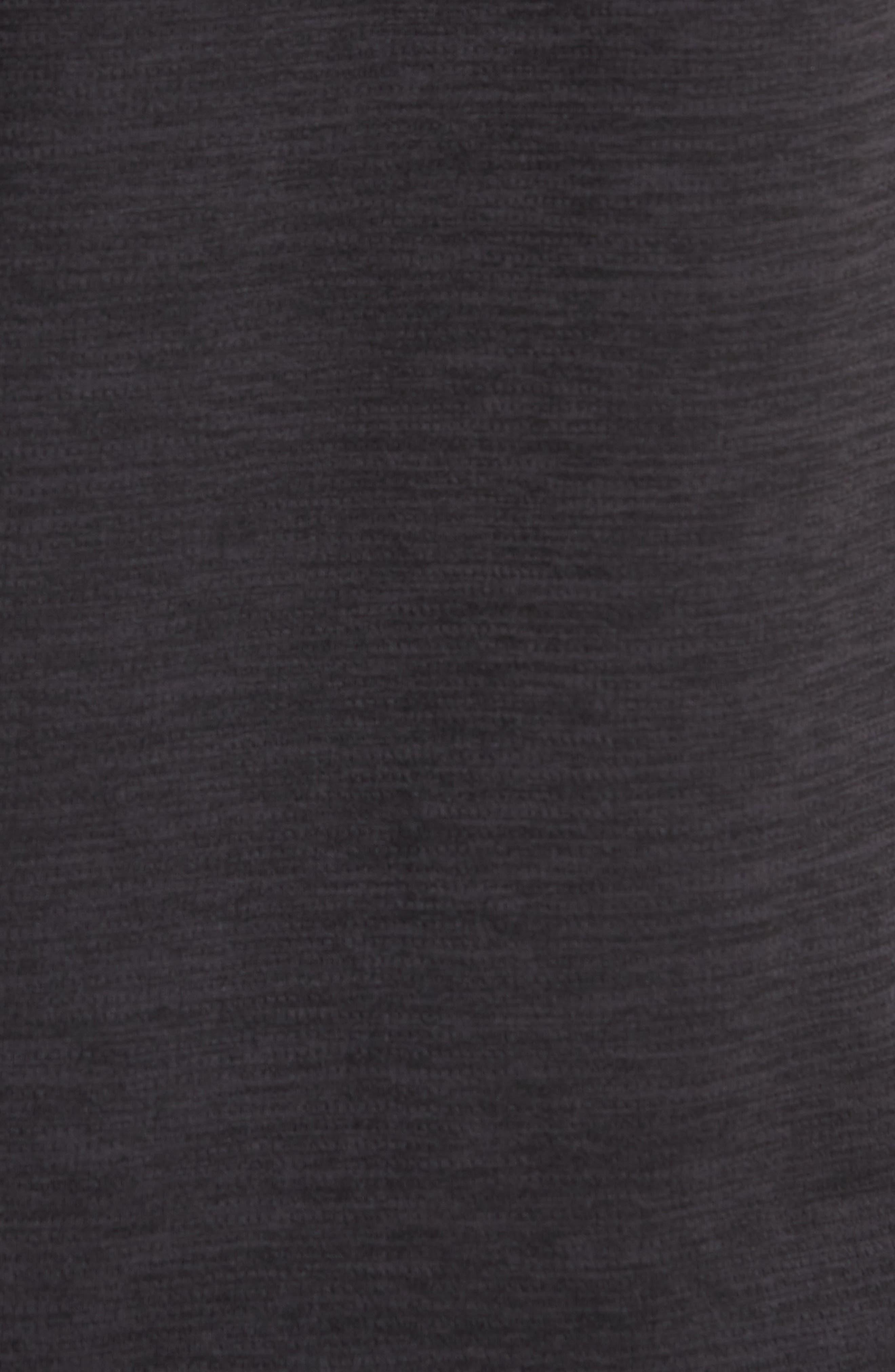ZELLA, Kinoite Raglan Crewneck T-Shirt, Alternate thumbnail 6, color, BLACK OXIDE MELANGE