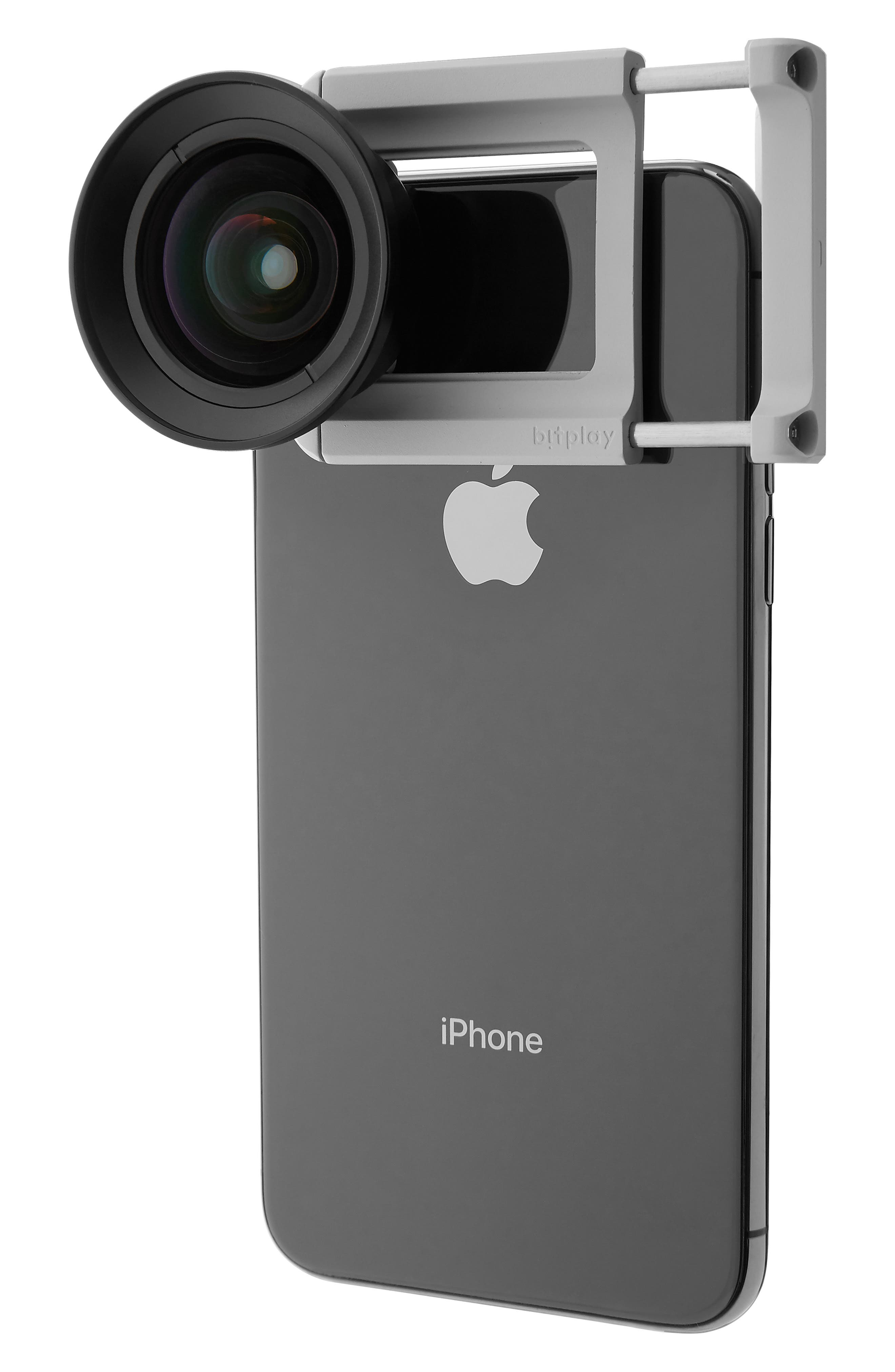 BITPLAY, AllClip Lens Holder + Premium HD Wide Angle Lens, Alternate thumbnail 2, color, SILVER