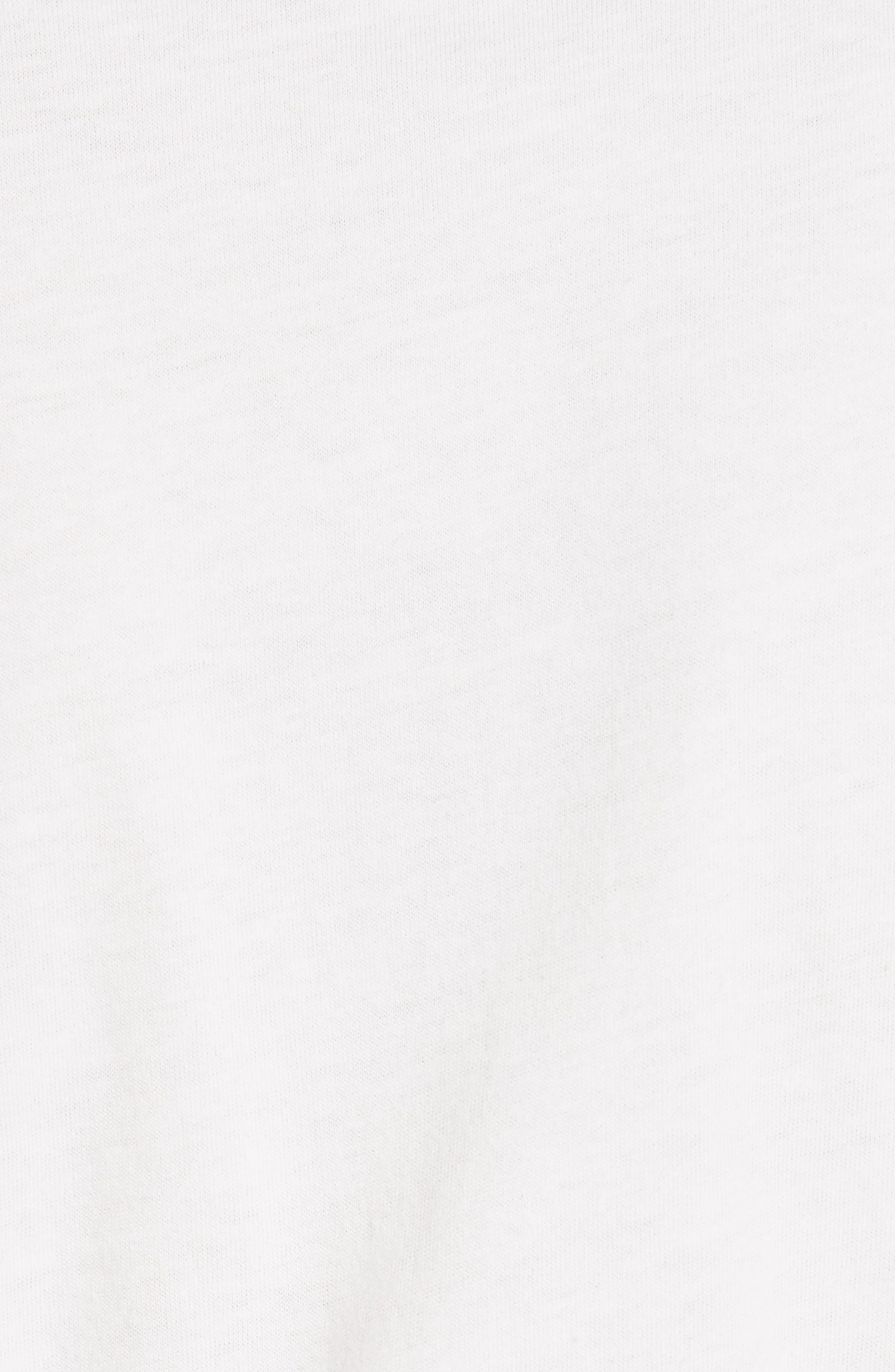 JONATHAN SIMKHAI, Corset Tee, Alternate thumbnail 5, color, WHITE