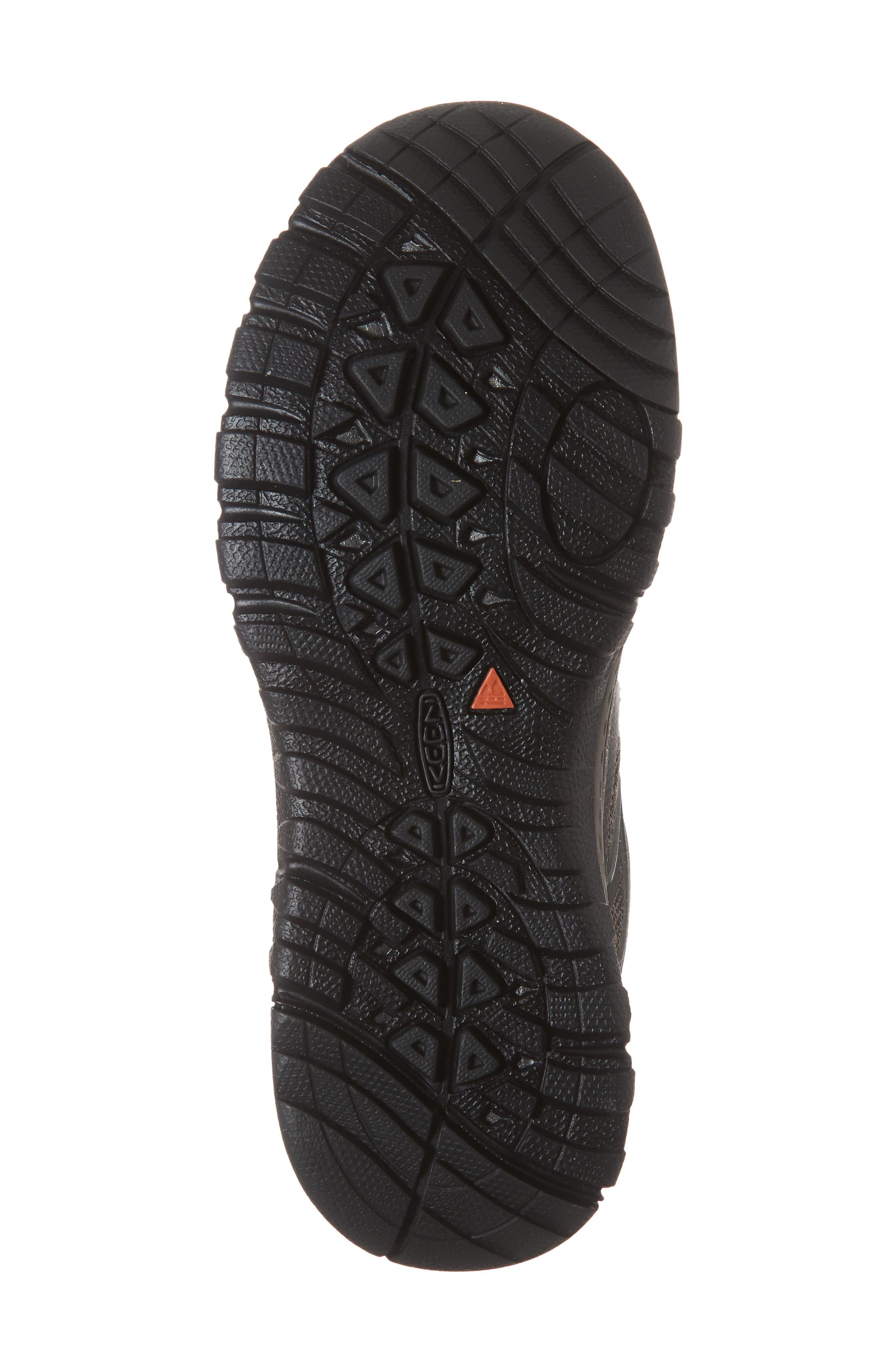 KEEN, Terradora Hiking Waterproof Sneaker, Alternate thumbnail 6, color, RAVEN/ GARGOYLE