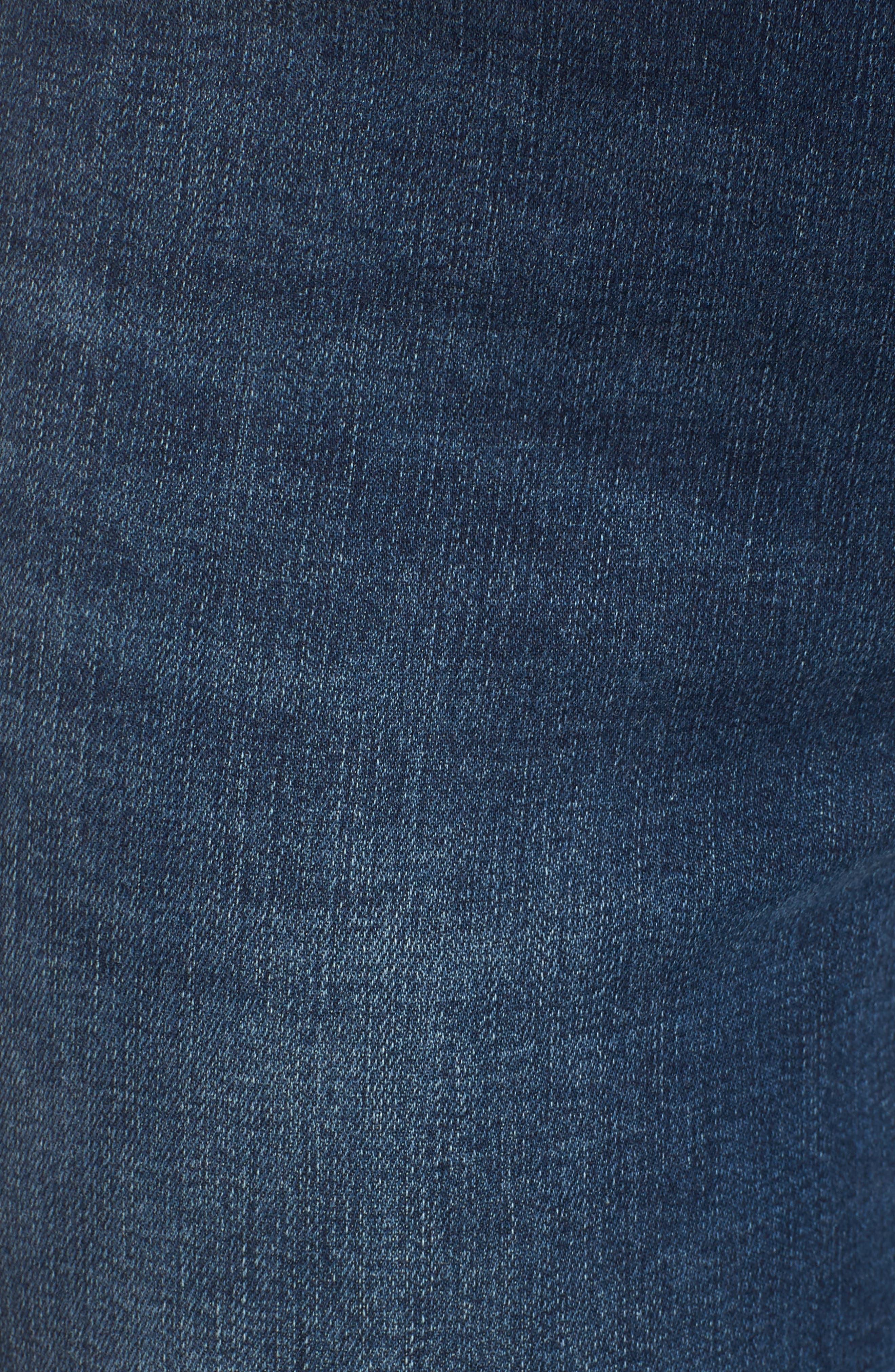 SPANX<SUP>®</SUP>, Distressed Skinny Jeans, Alternate thumbnail 6, color, MEDIUM WASH
