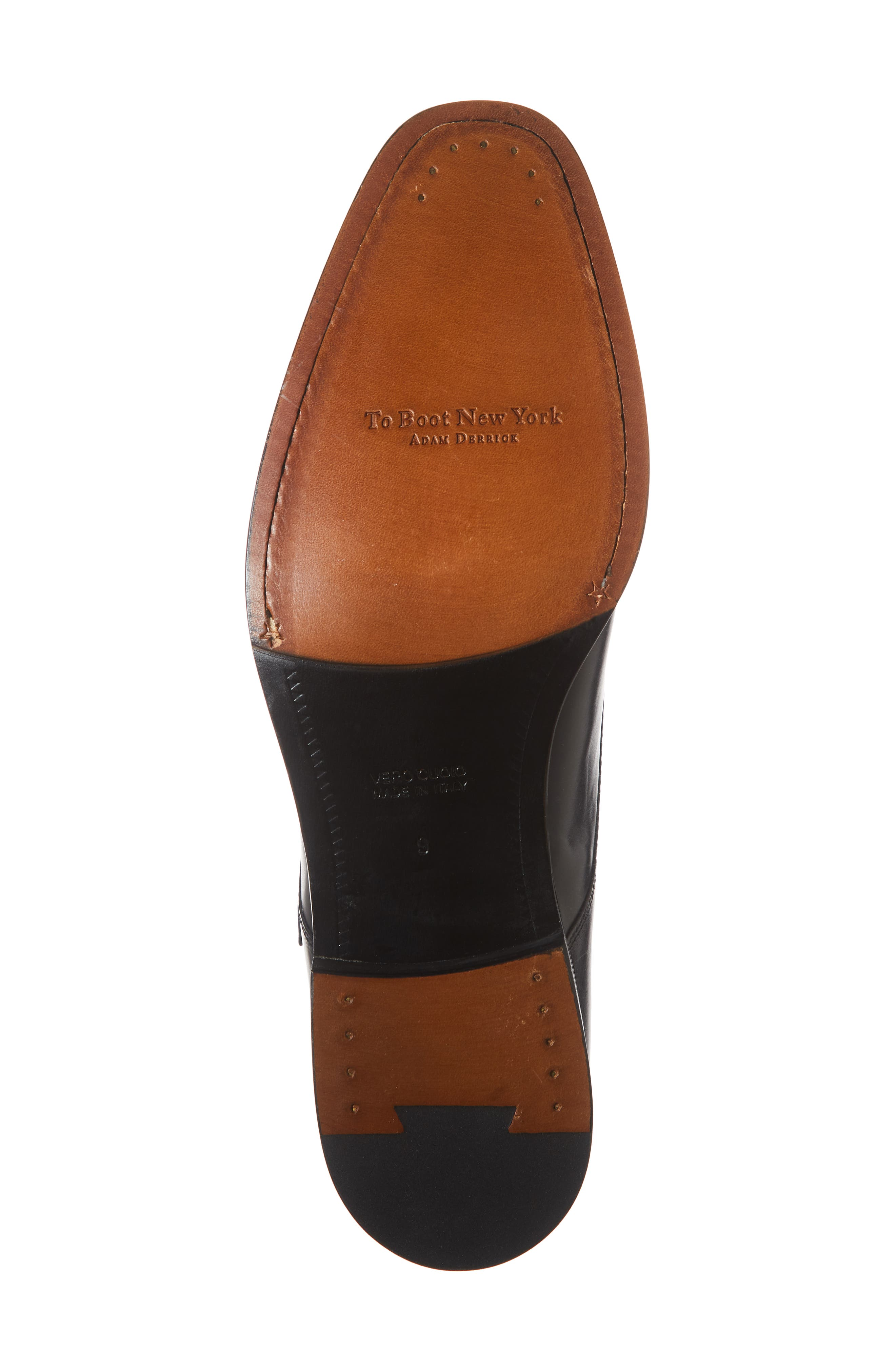 TO BOOT NEW YORK, Quentin Cap Toe Monk Shoe, Alternate thumbnail 6, color, BLUE MARINE LEATHER