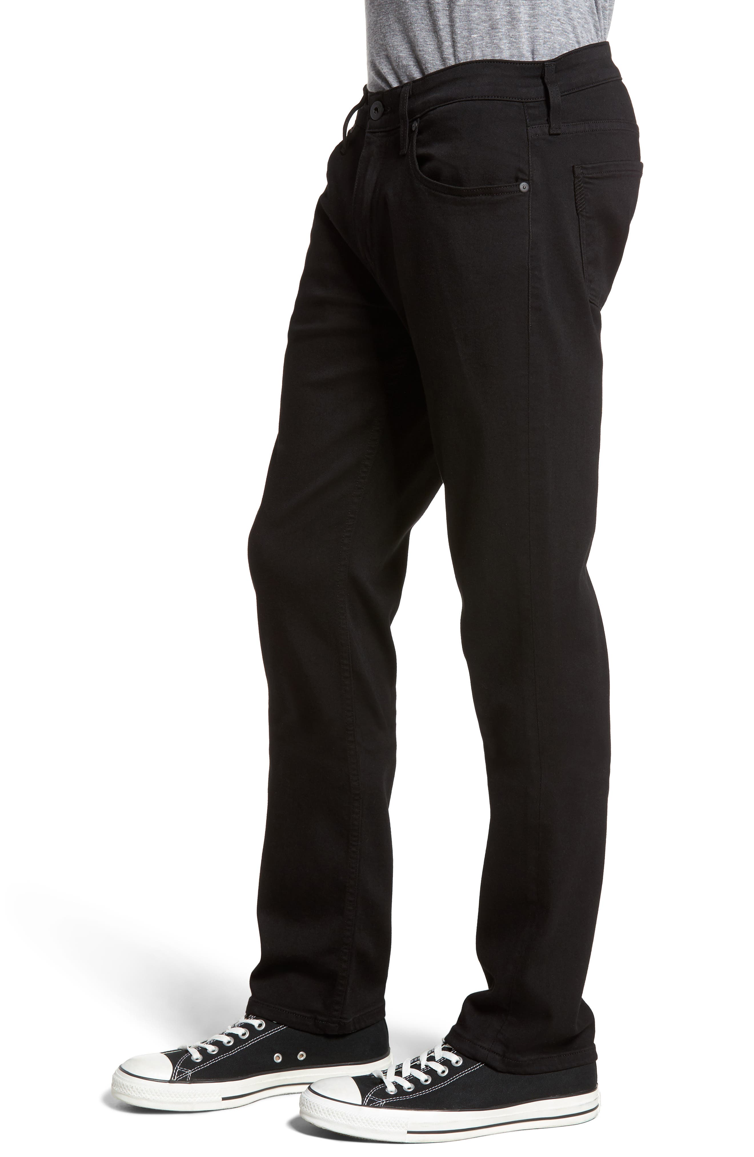 PAIGE, Federal Slim Straight Leg Jeans, Alternate thumbnail 4, color, BLACK SHADOW