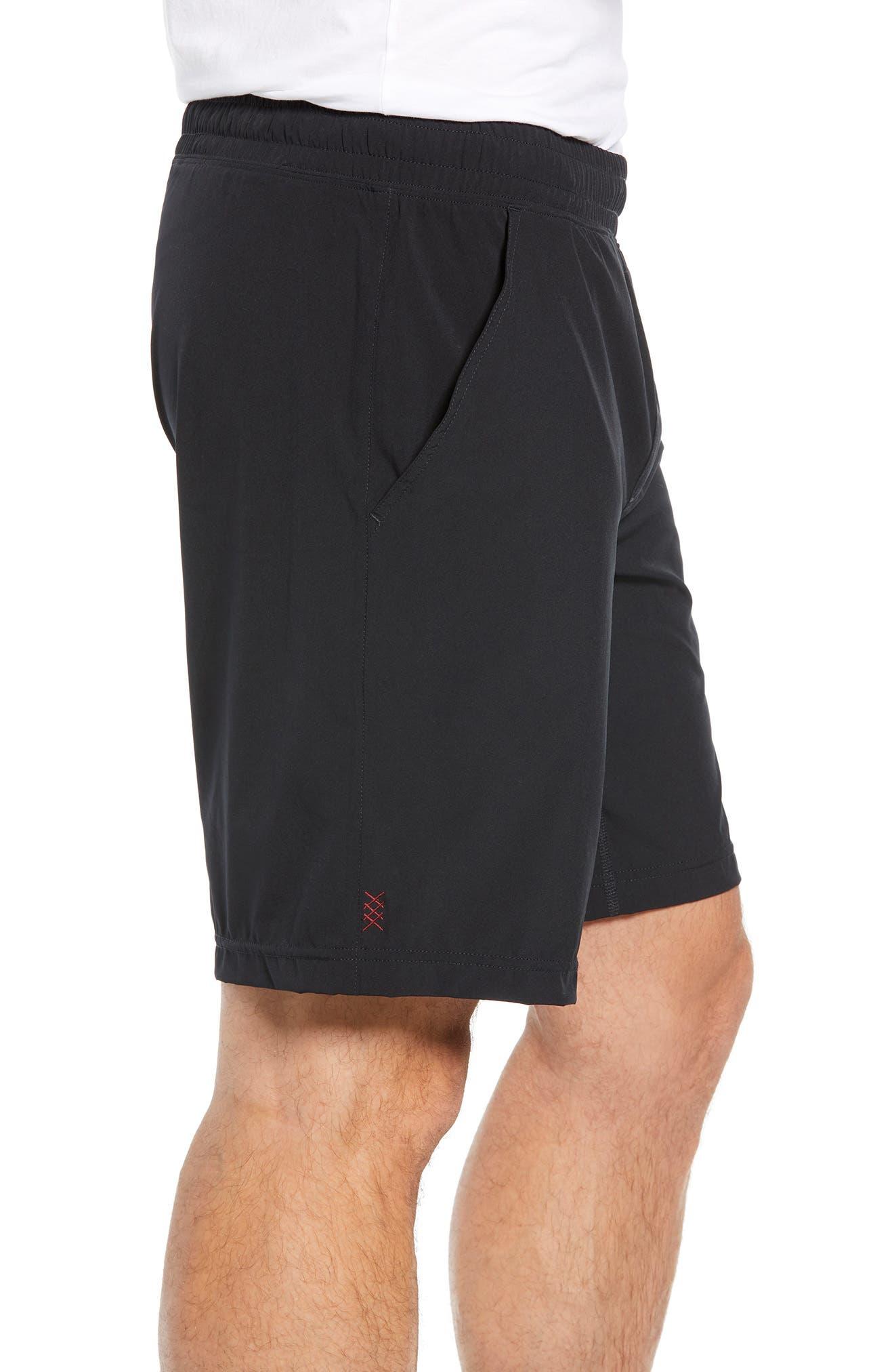 RHONE, Mako Lined Shorts, Alternate thumbnail 3, color, BLACK