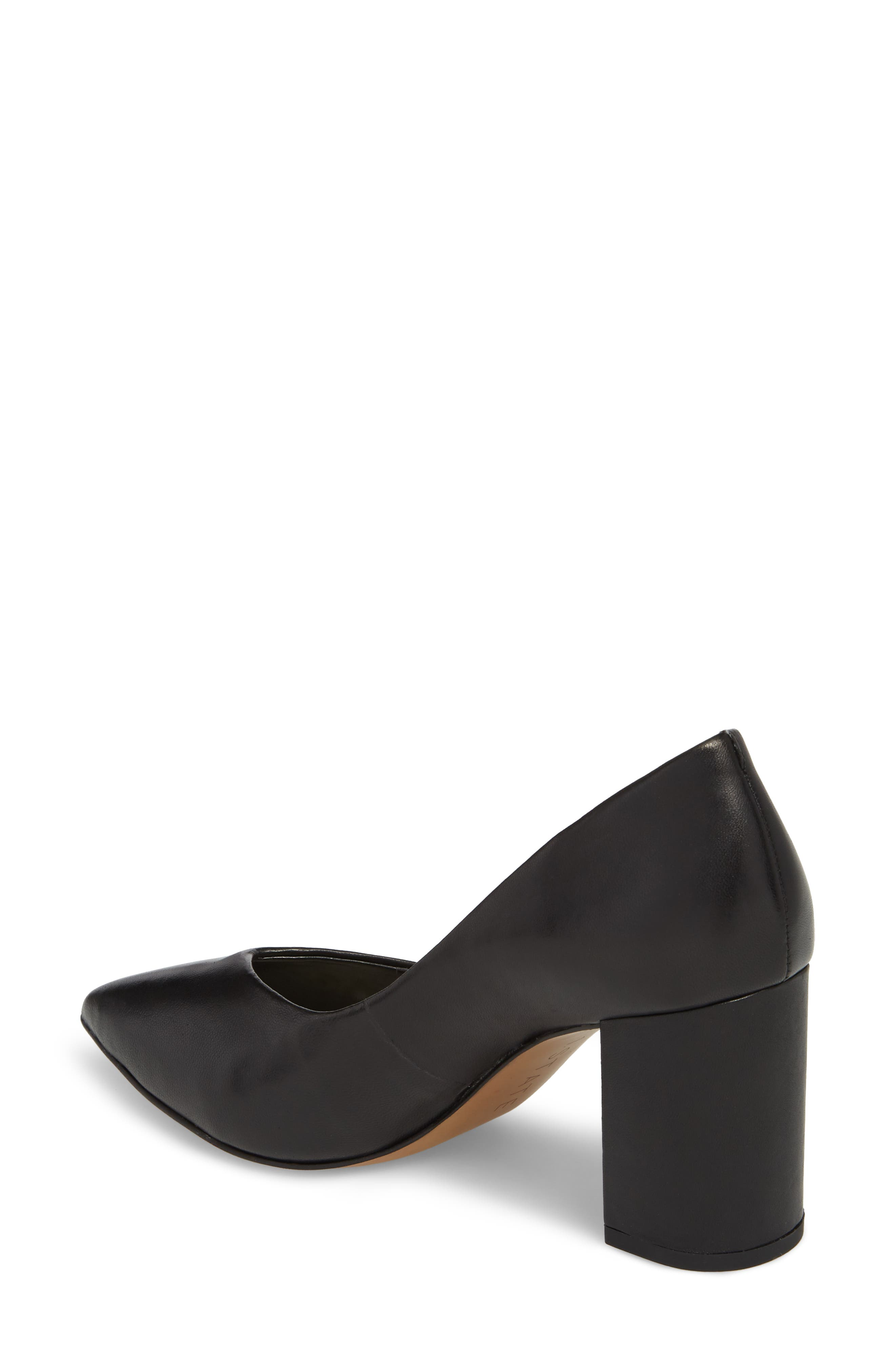 1.STATE, Saffy Block Heel Pump, Alternate thumbnail 2, color, BLACK LEATHER