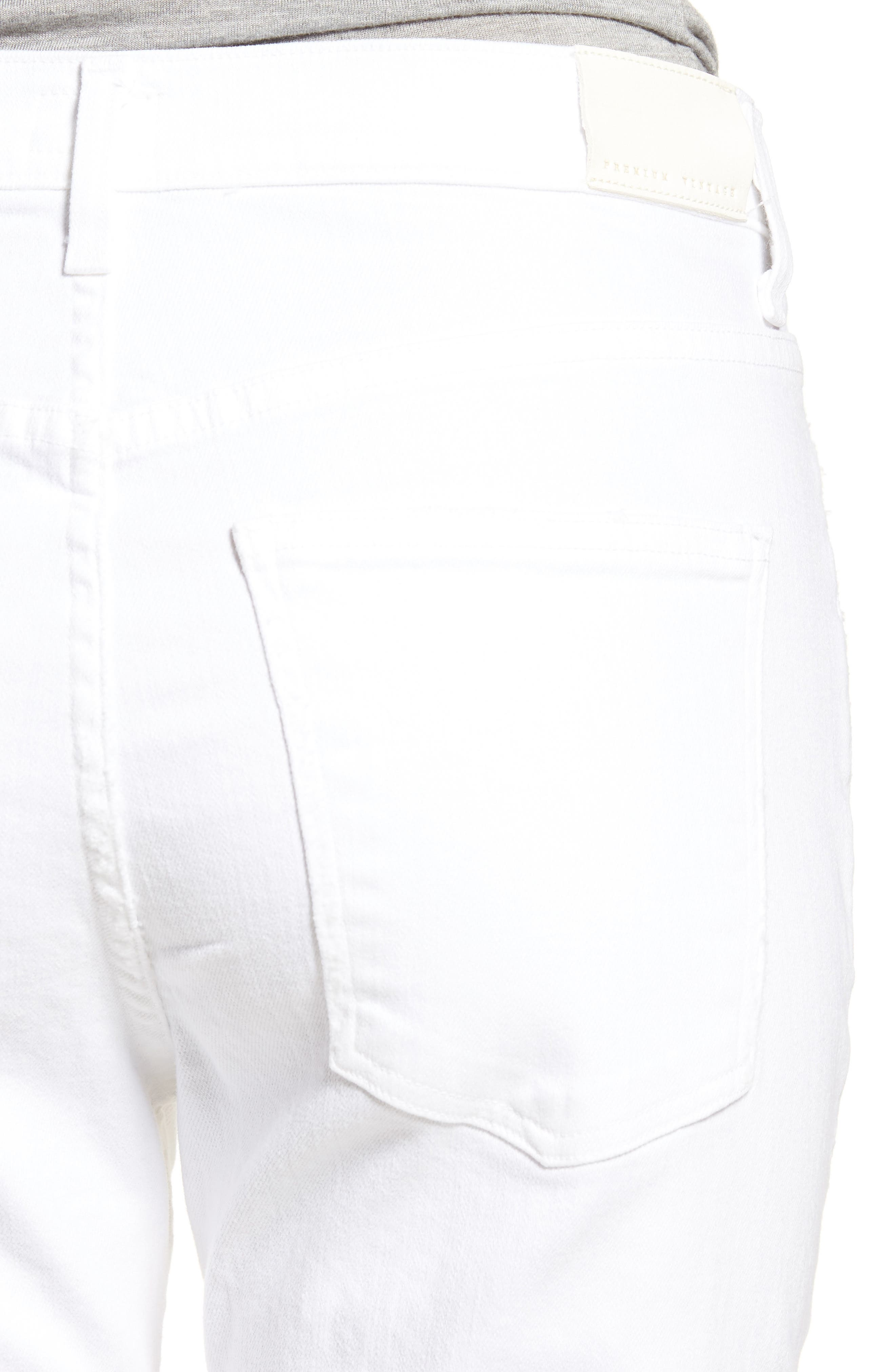 CITIZENS OF HUMANITY, Drew Crop Flare Jeans, Alternate thumbnail 4, color, DISTRESSED WHITE