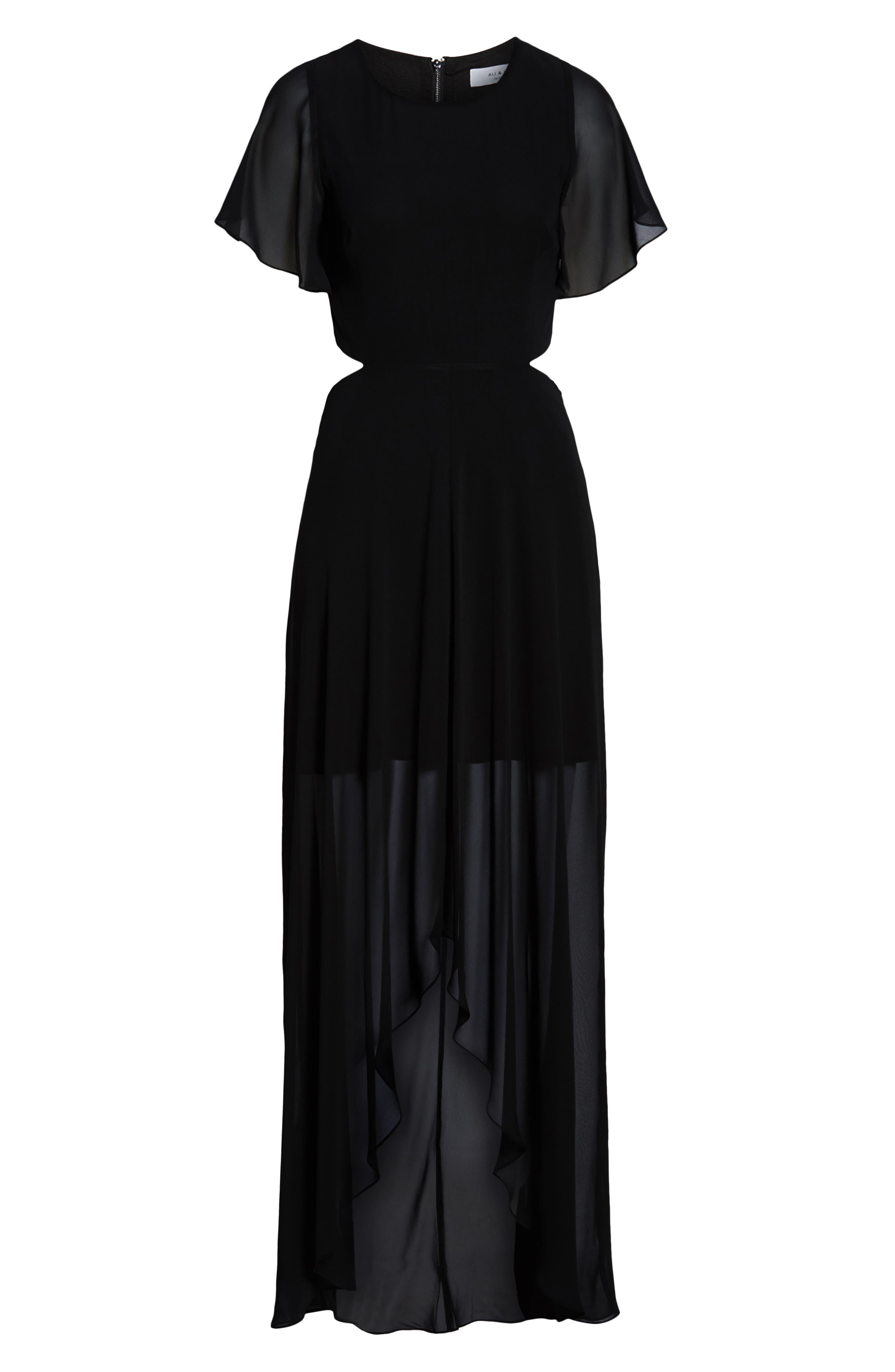 ALI & JAY, Cutout Maxi Dress, Alternate thumbnail 7, color, BLACK