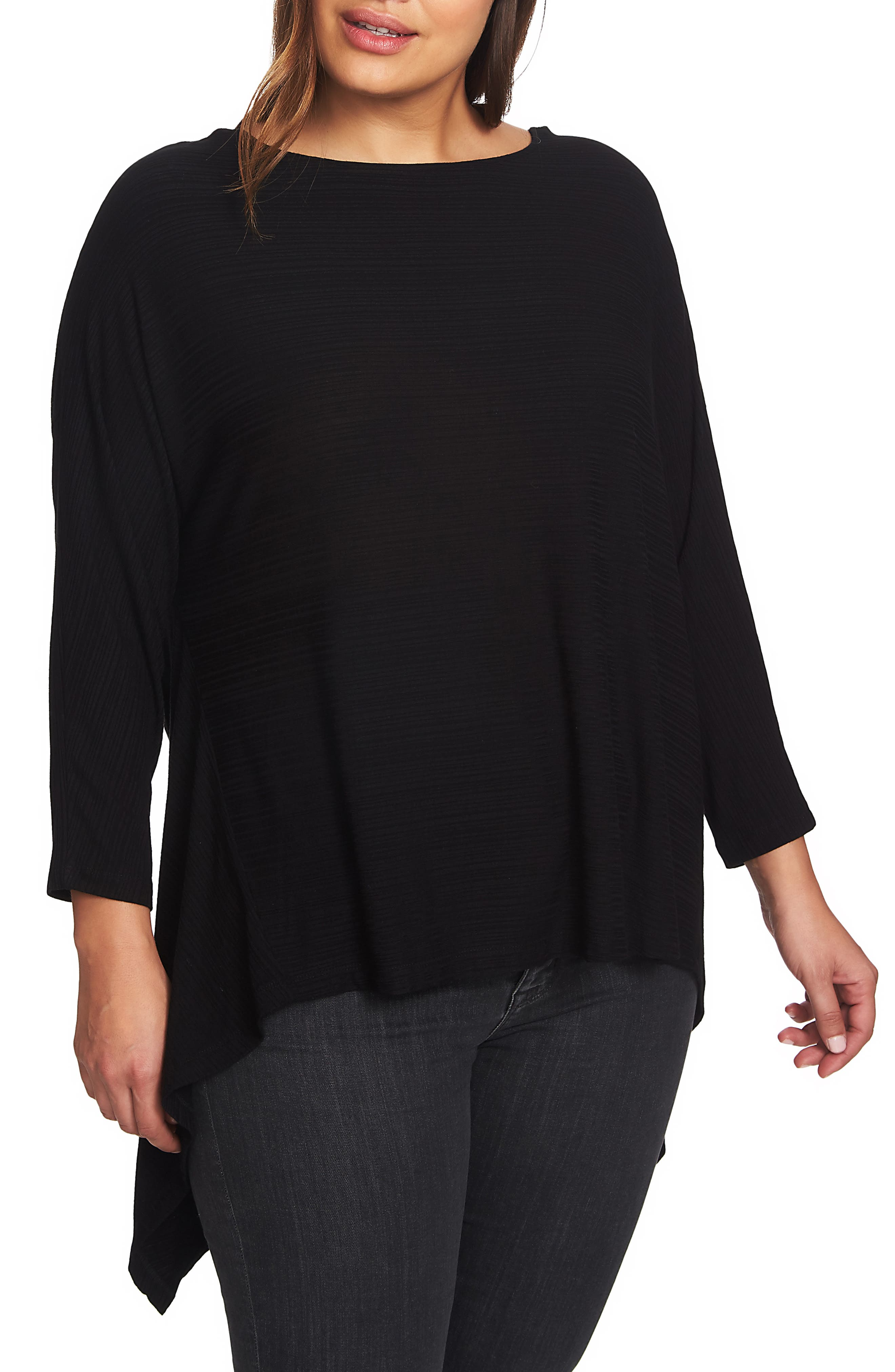 1.STATE Knot Knit Reversible Top, Main, color, RICH BLACK