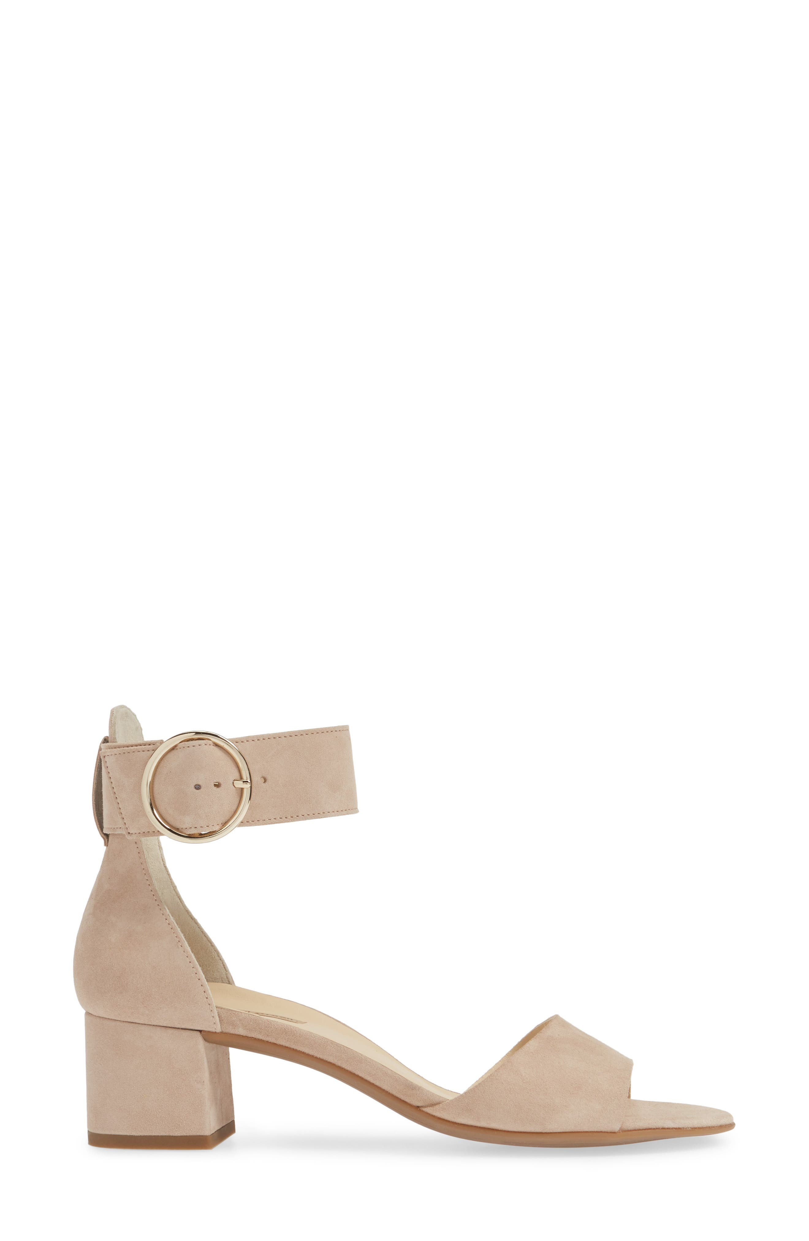 PAUL GREEN, Velma Ankle Strap Sandal, Alternate thumbnail 3, color, SAHARA SUEDE