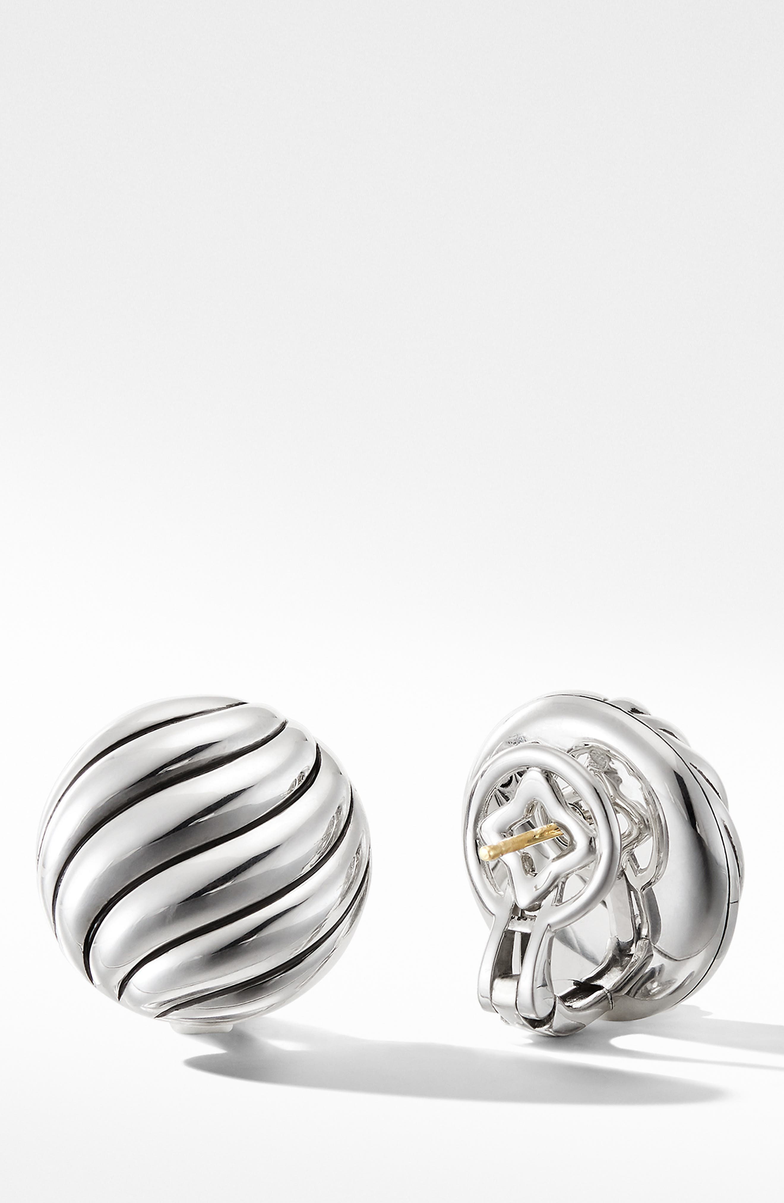 DAVID YURMAN, Cable Stud Earrings in Sterling Silver, Alternate thumbnail 2, color, SILVER