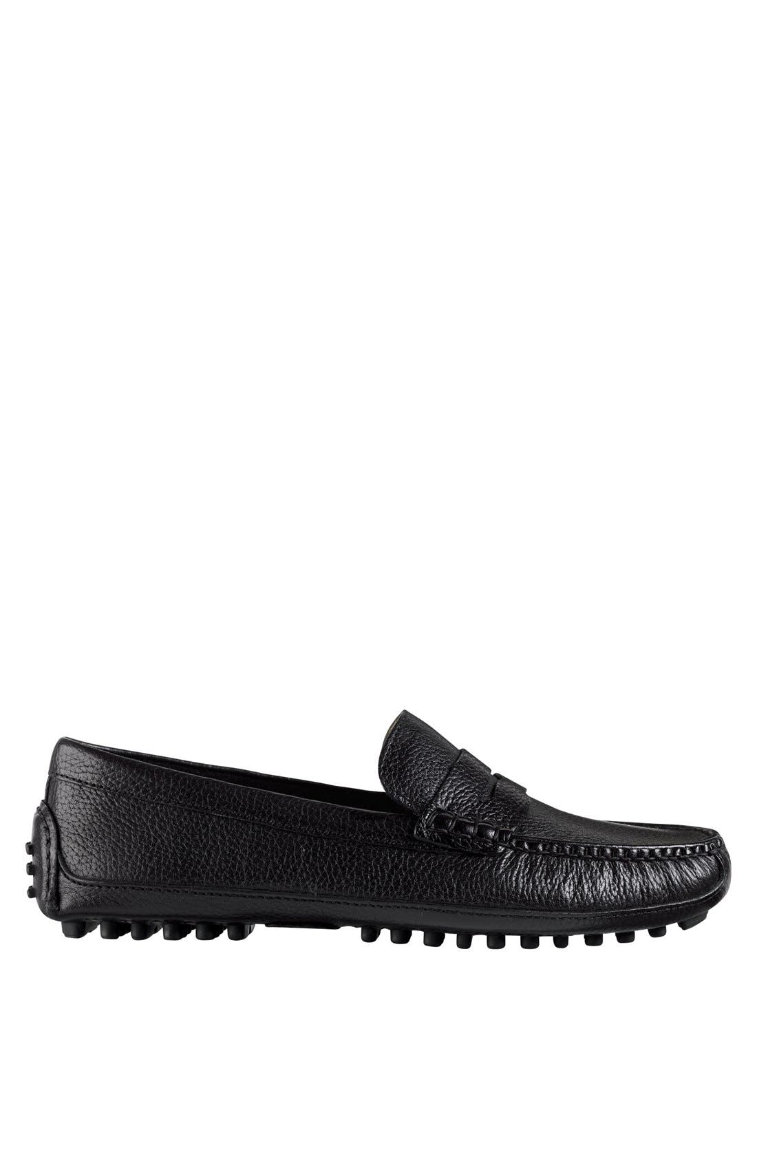 COLE HAAN, 'Grant Canoe' Penny Loafer, Alternate thumbnail 5, color, 001