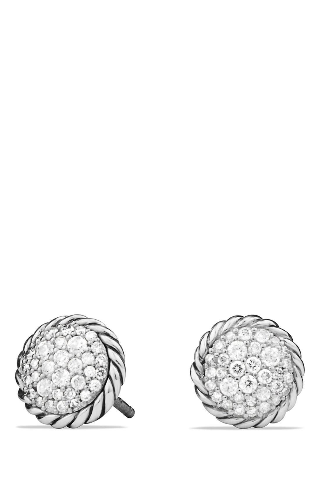 DAVID YURMAN 'Châtelaine' Pavé Earring with Diamonds, Main, color, DIAMOND