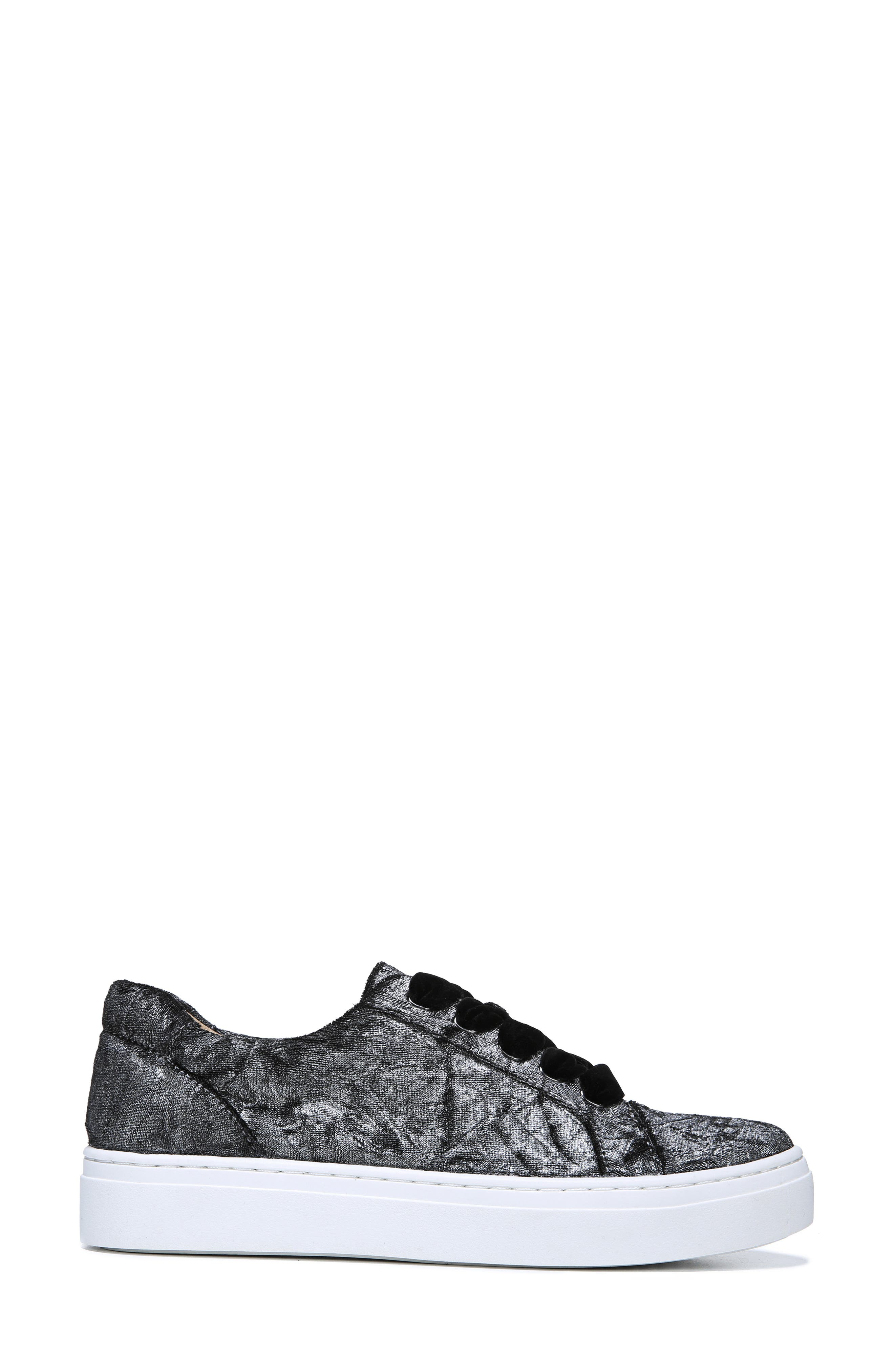 NATURALIZER, Cairo Sneaker, Alternate thumbnail 3, color, PEWTER VELVET