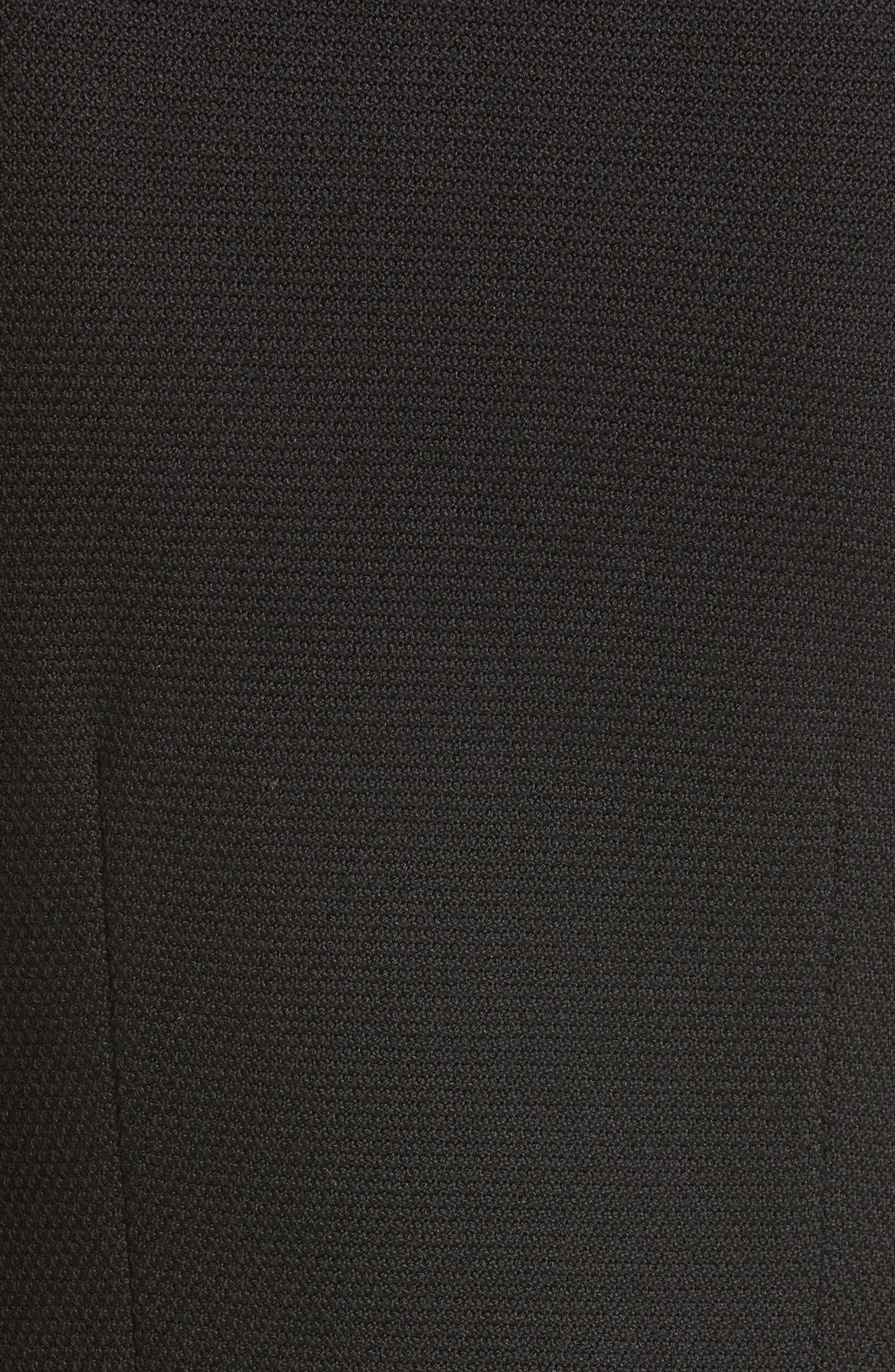 ST. JOHN COLLECTION, Micro Bouclé Knit Blazer, Alternate thumbnail 6, color, CAVIAR