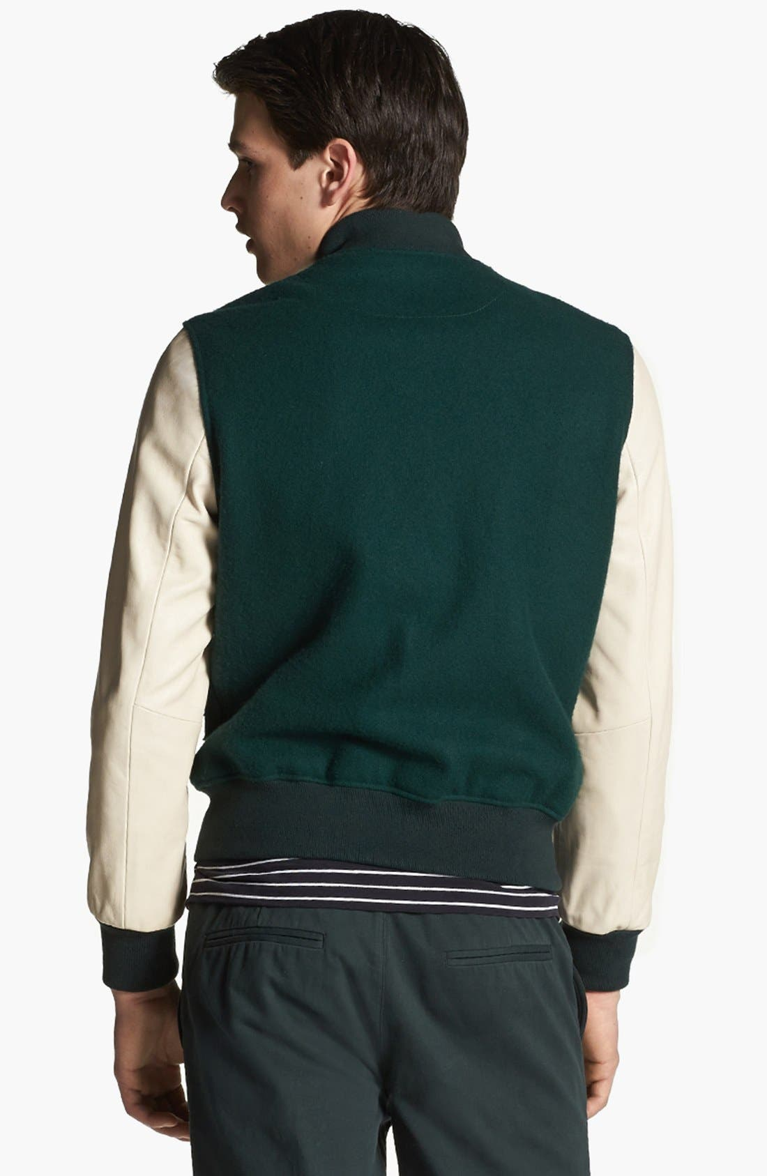 SHIPLEY & HALMOS, 'Ralphie' Varsity Jacket, Alternate thumbnail 3, color, 341
