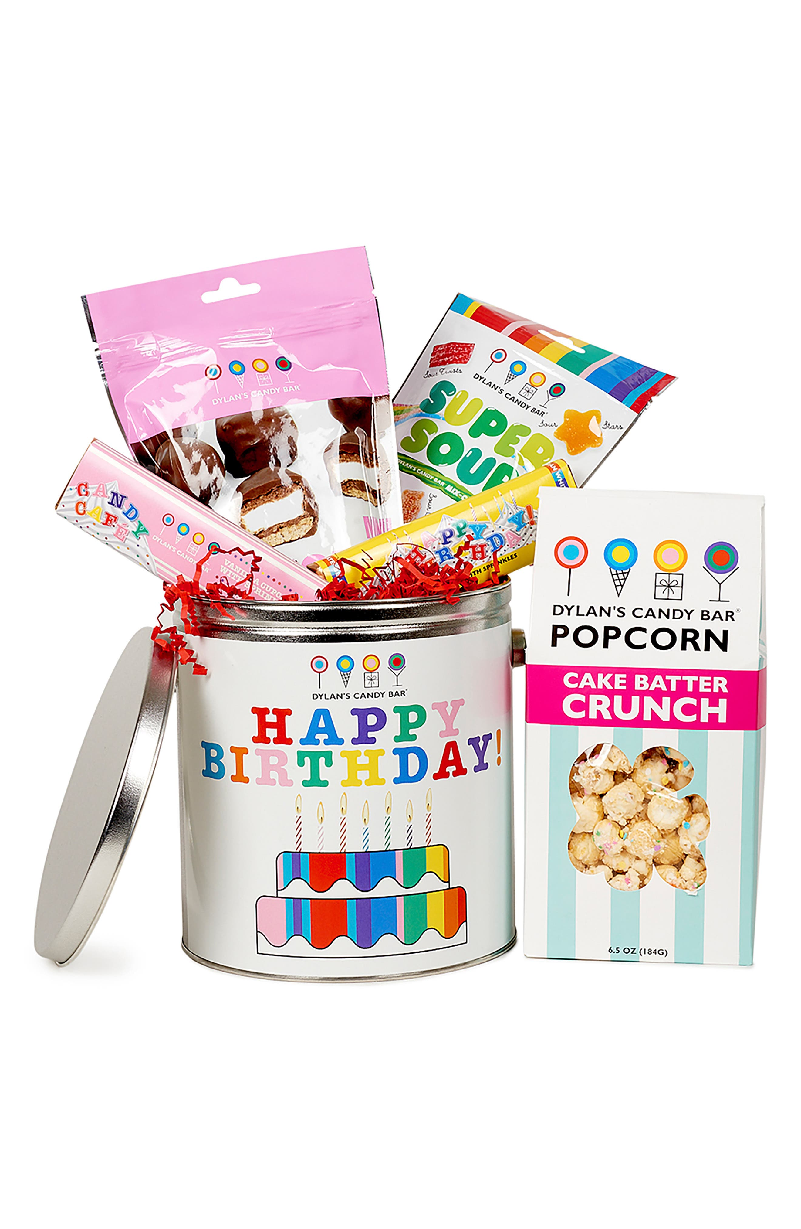 DYLAN'S CANDY BAR, Happy Birthday Bucket, Main thumbnail 1, color, 100