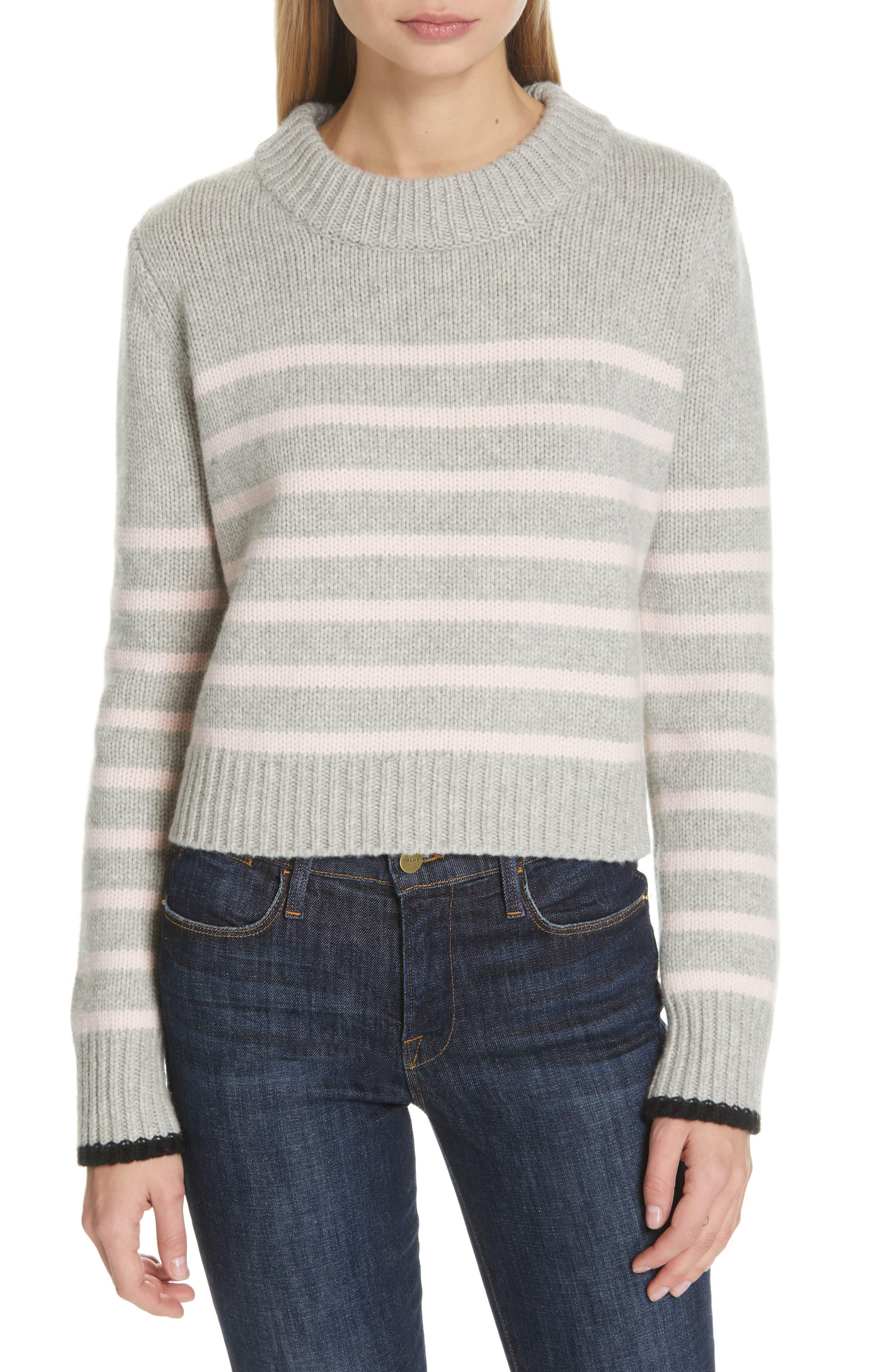 La Ligne Mini Maren Wool & Cashmere Sweater, Grey