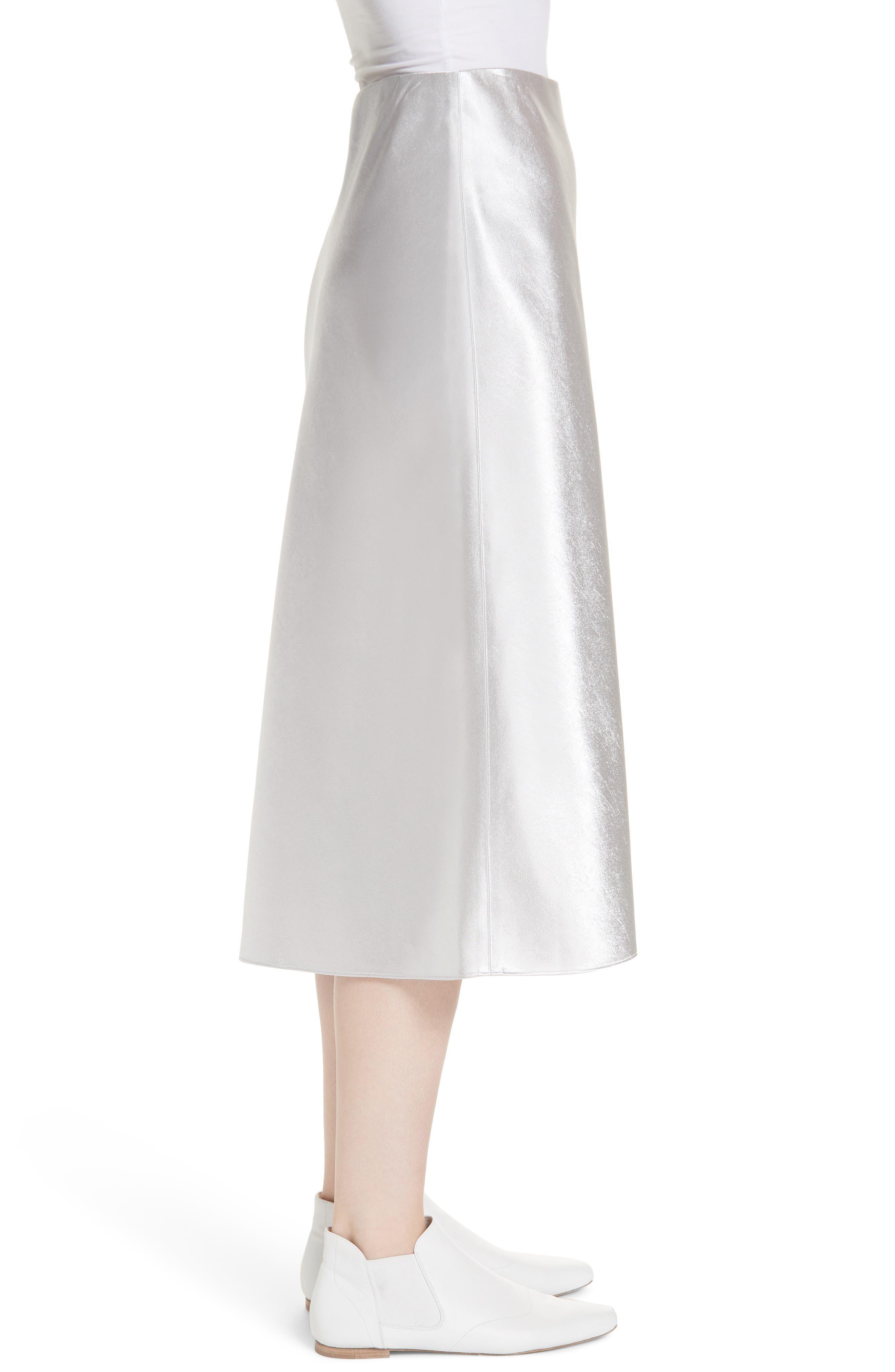 VINCE, Satin Slip Skirt, Alternate thumbnail 3, color, 043