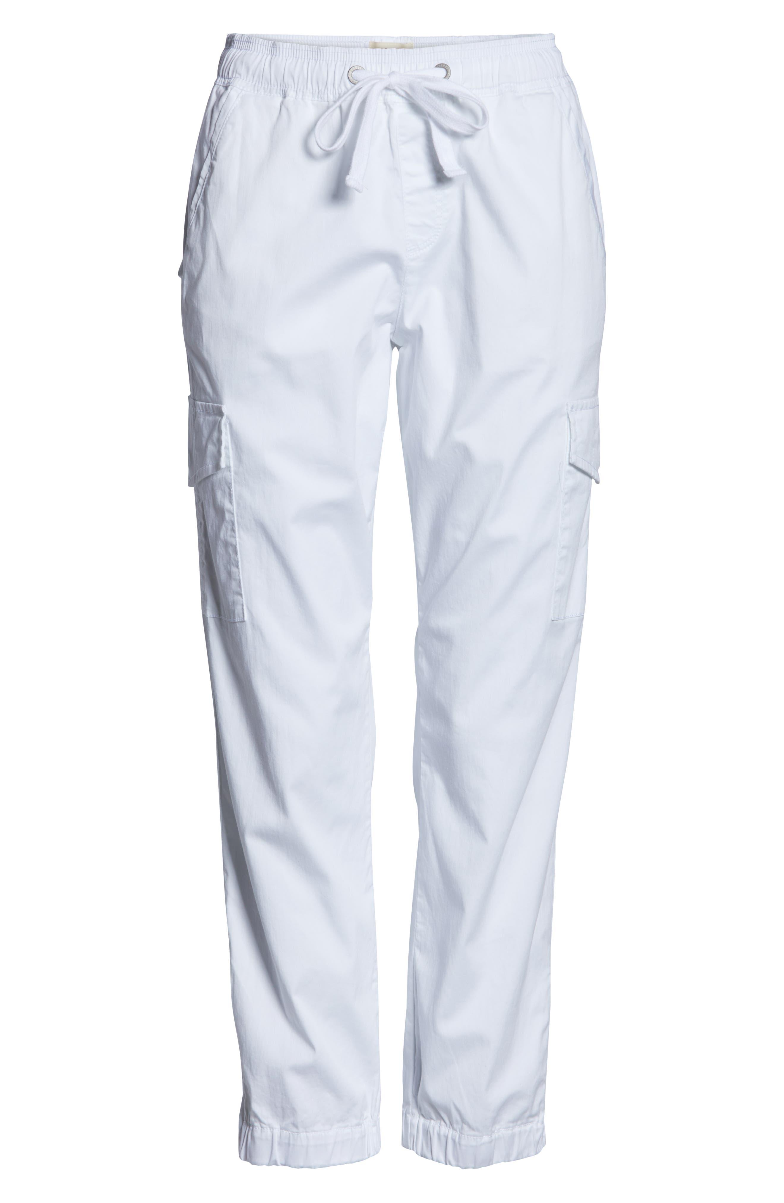 SANCTUARY, Drawstring Trooper Pants, Alternate thumbnail 5, color, BRITE WHITE