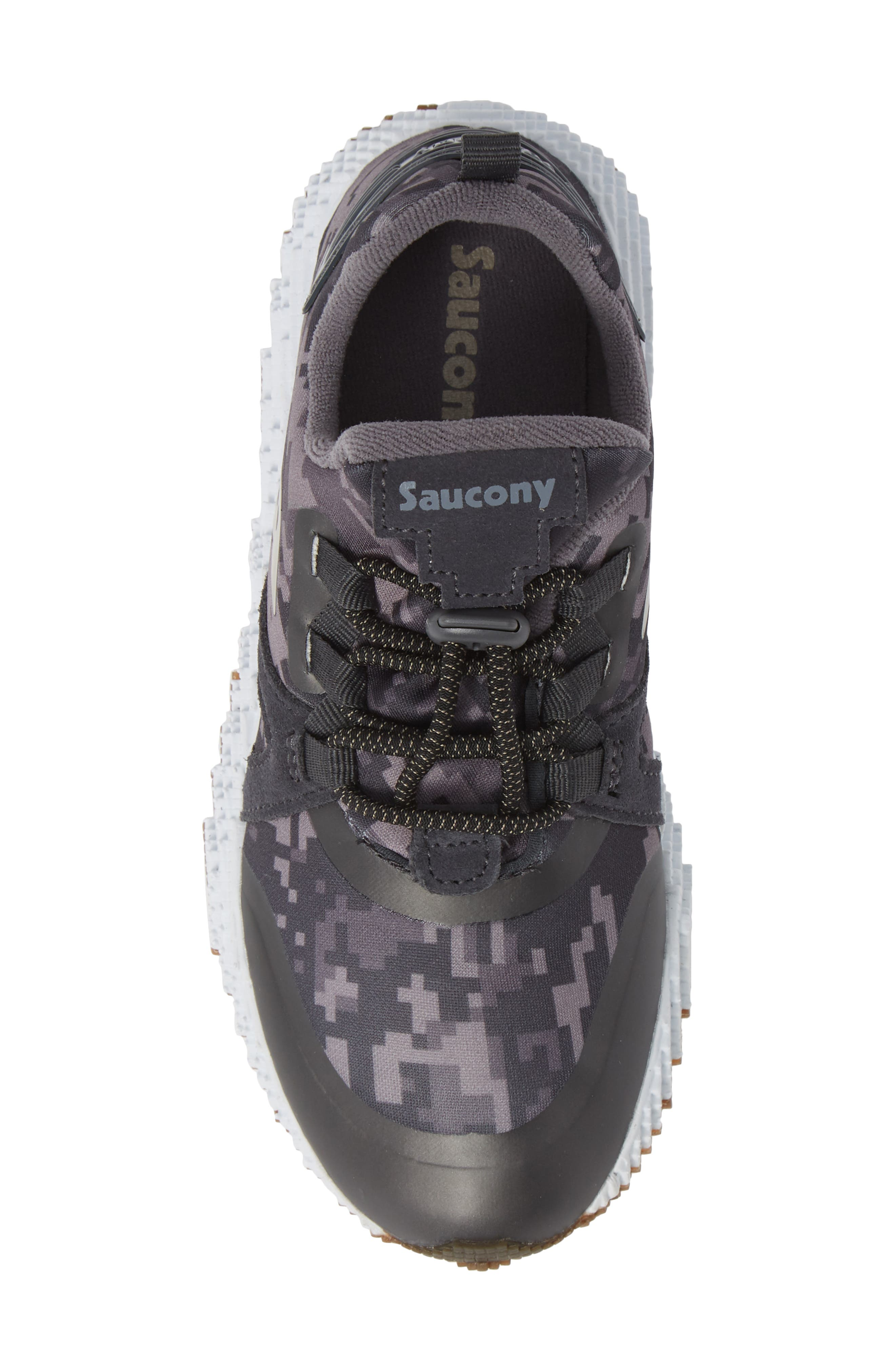 SAUCONY, Voxel 9000 Sneaker, Alternate thumbnail 5, color, GREY LEATHER/ MESH