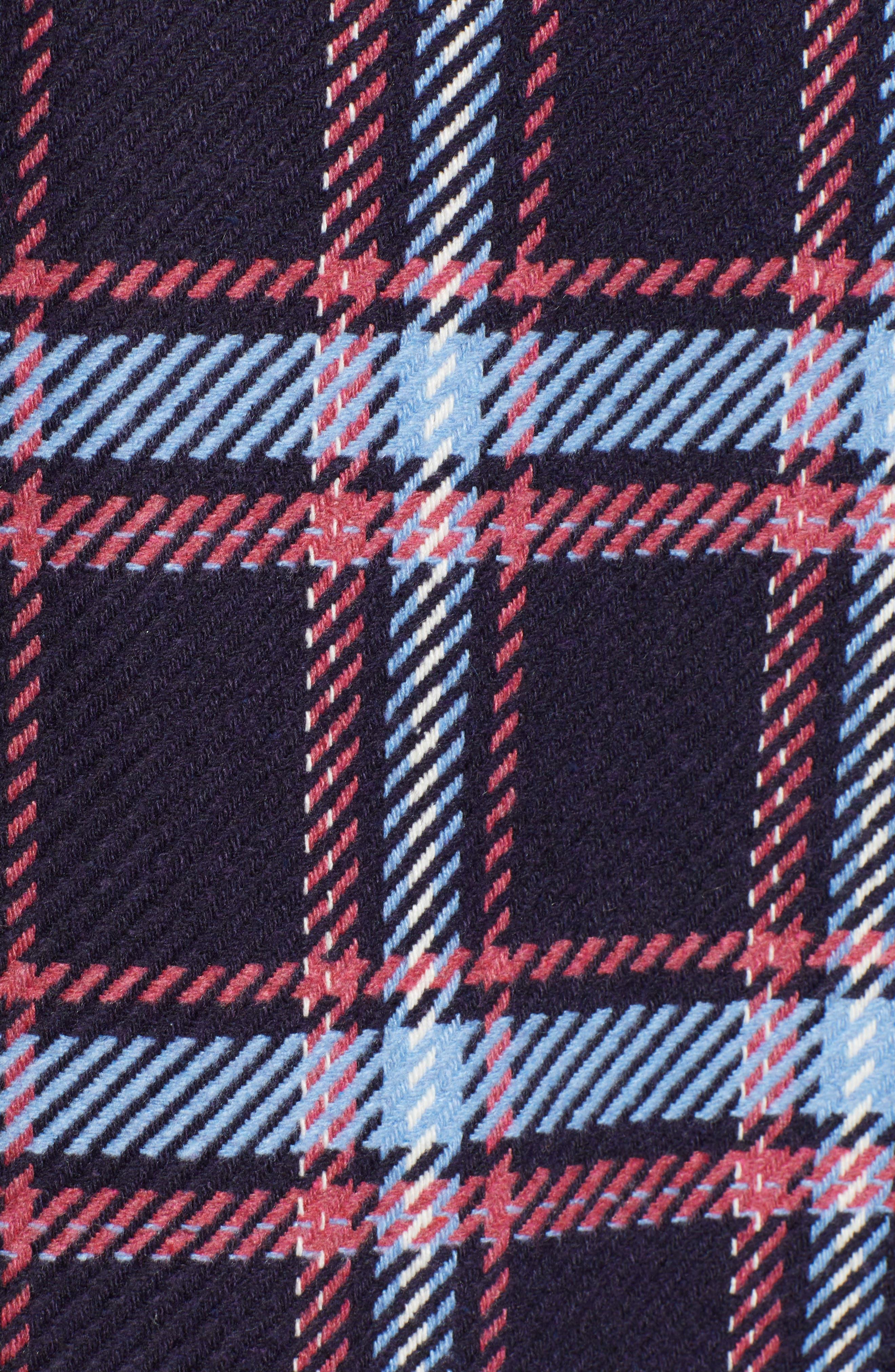 HALOGEN<SUP>®</SUP>, x Atlantic-Pacific Long Plaid Coat, Alternate thumbnail 8, color, 410