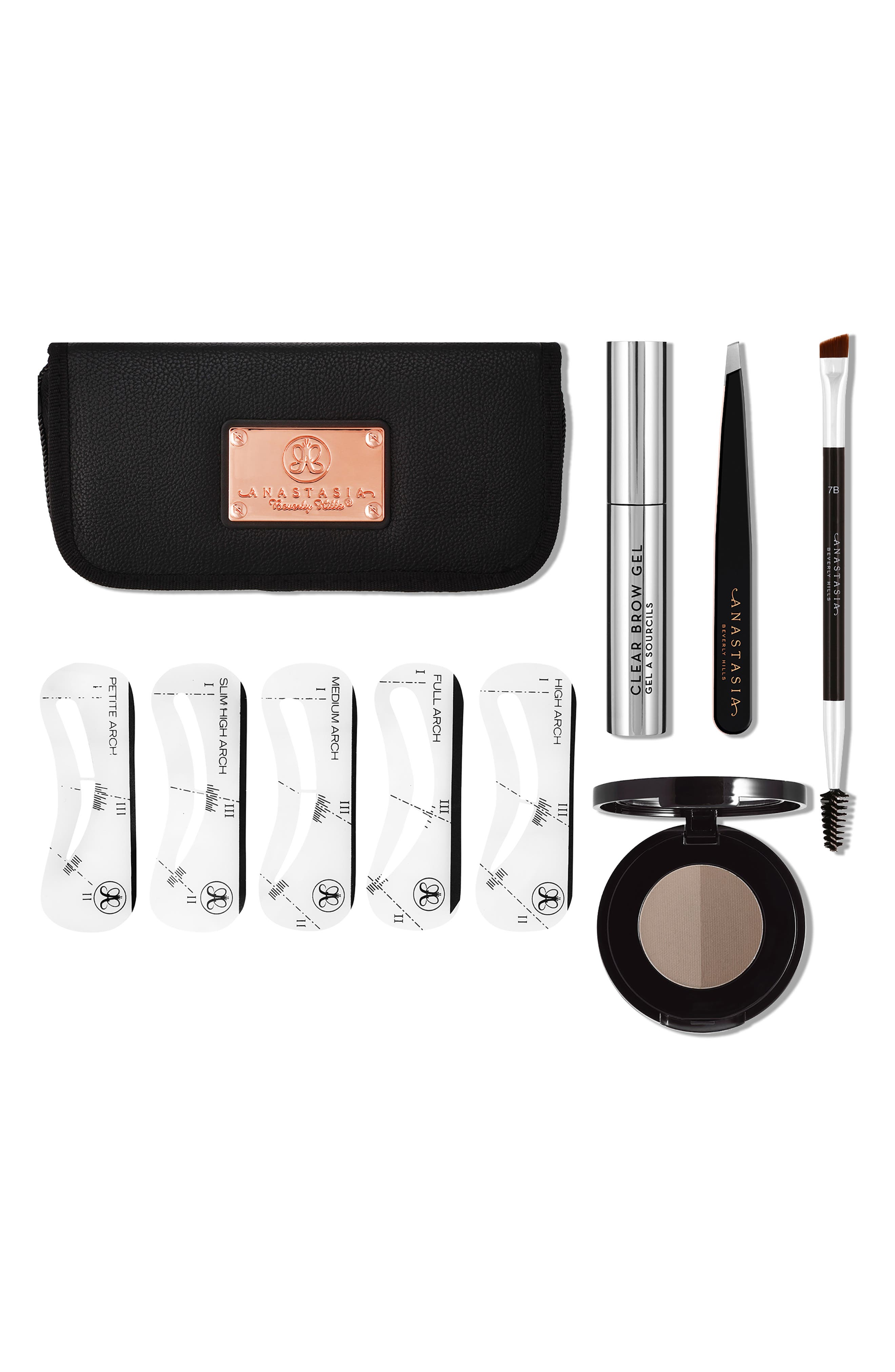 ANASTASIA BEVERLY HILLS Five Item Brow Kit, Main, color, MEDIUM BROWN