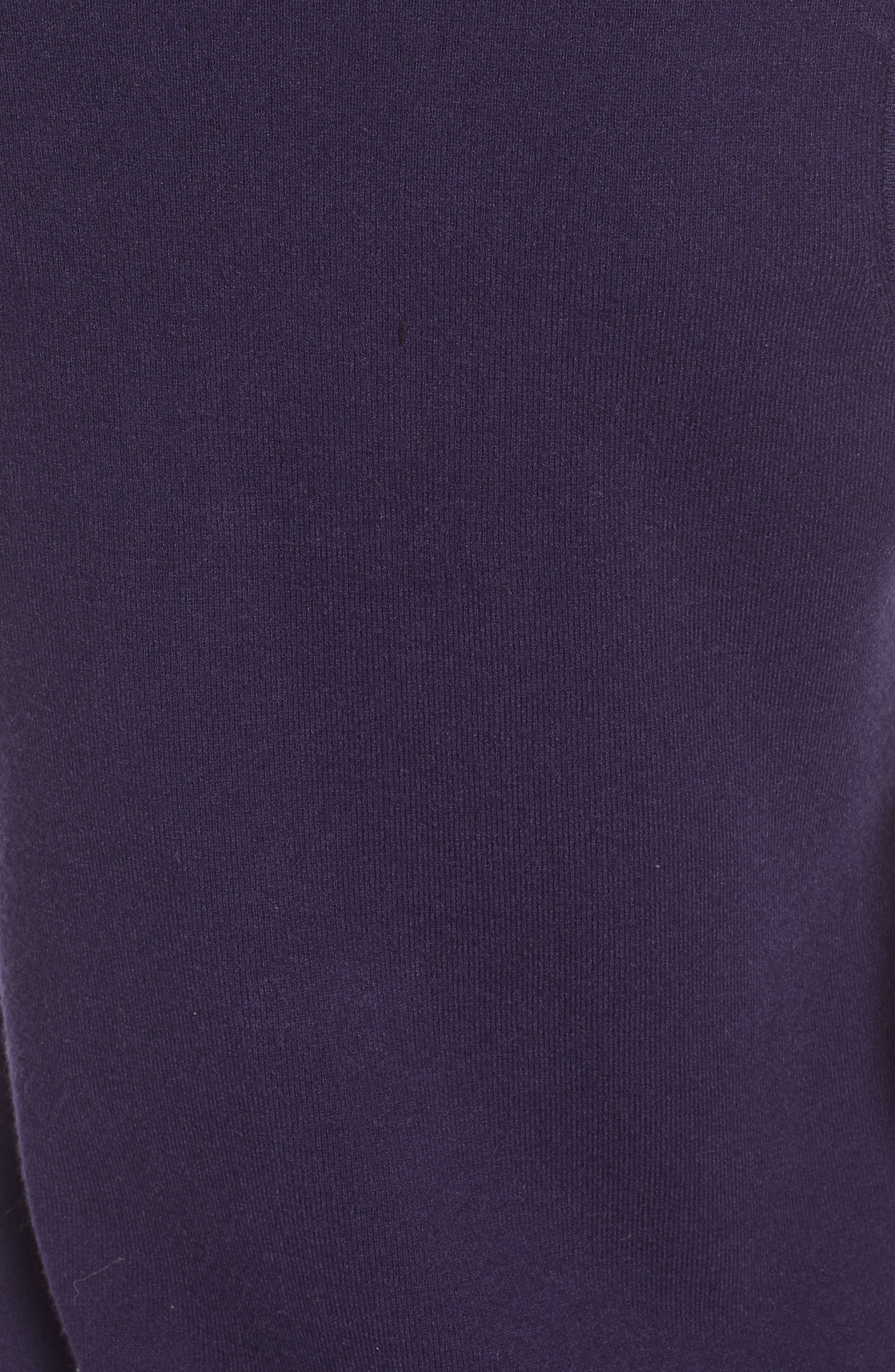 SOMETHING NAVY, Sleeveless Sweater Dress, Alternate thumbnail 6, color, 401