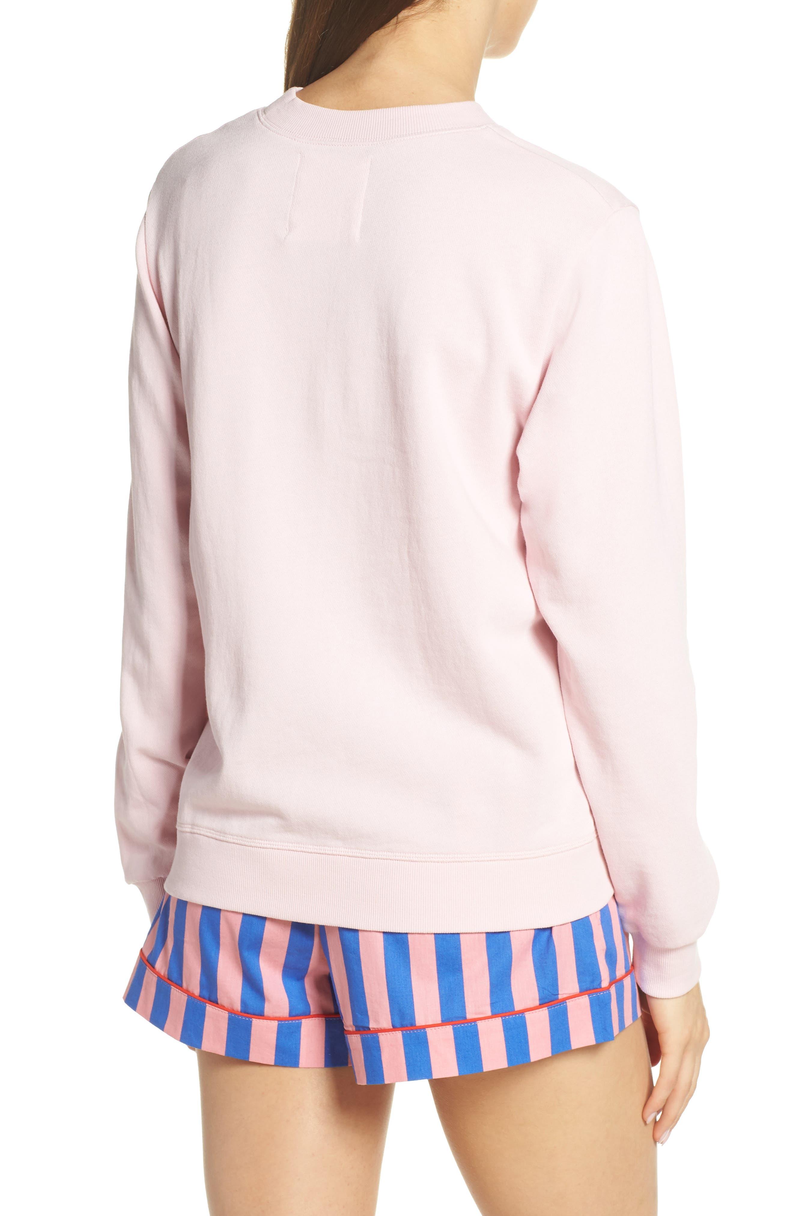 BAN.DO, Leisure Queen Sweatshirt, Alternate thumbnail 2, color, PINK