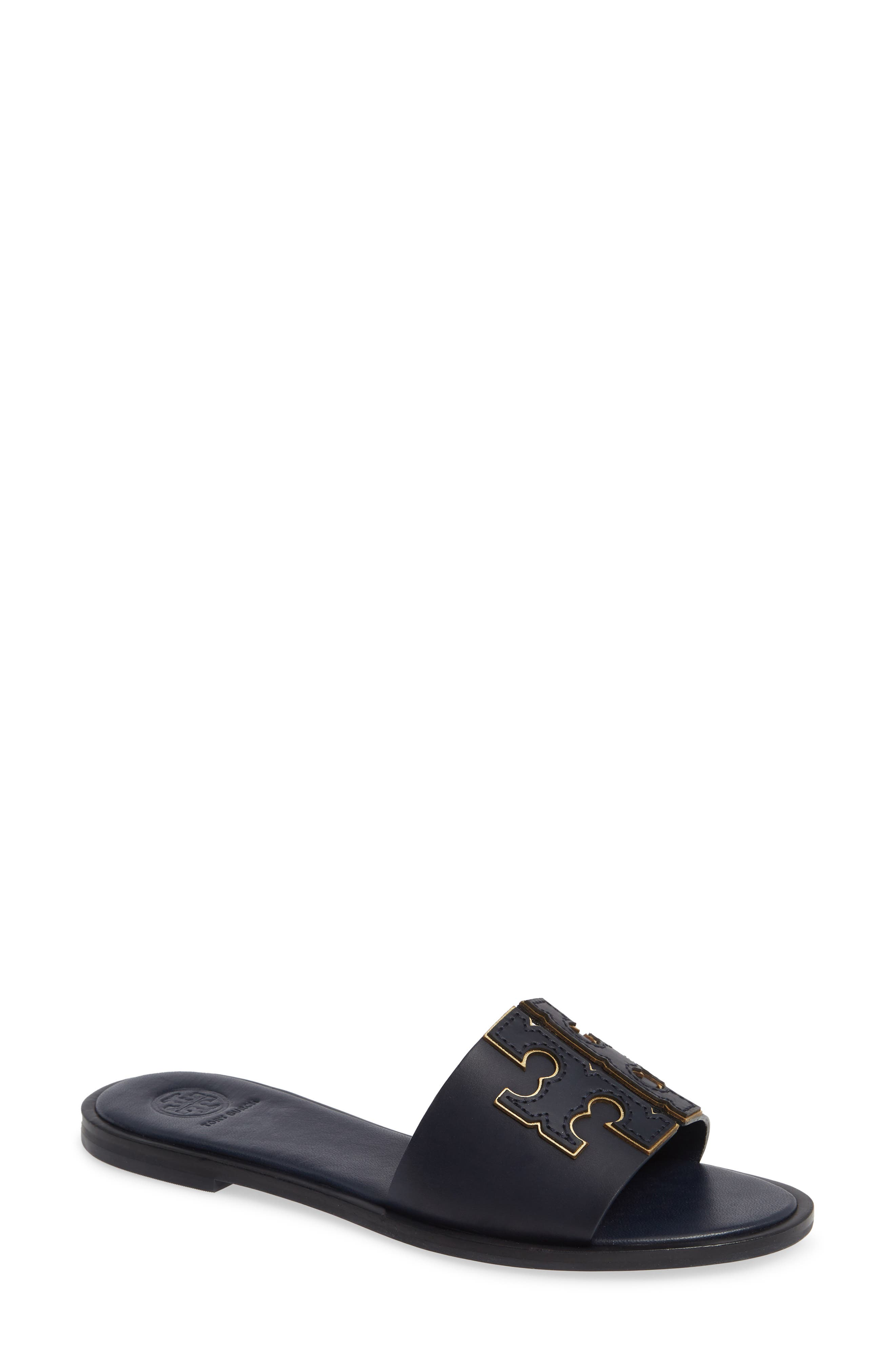 Tory Burch Ines Slide Sandal- Blue